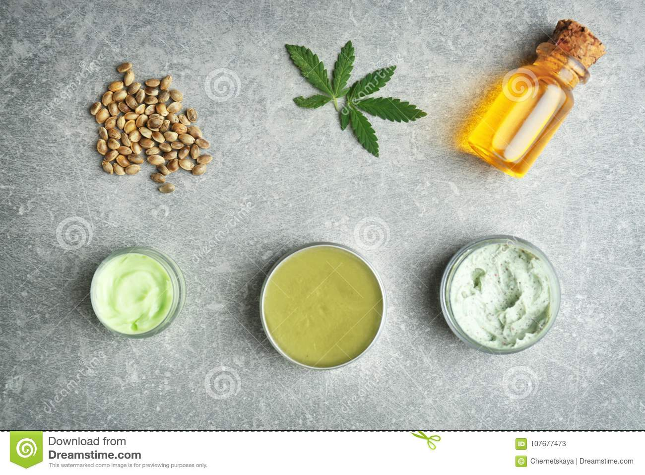 Composition with hemp cosmetic products