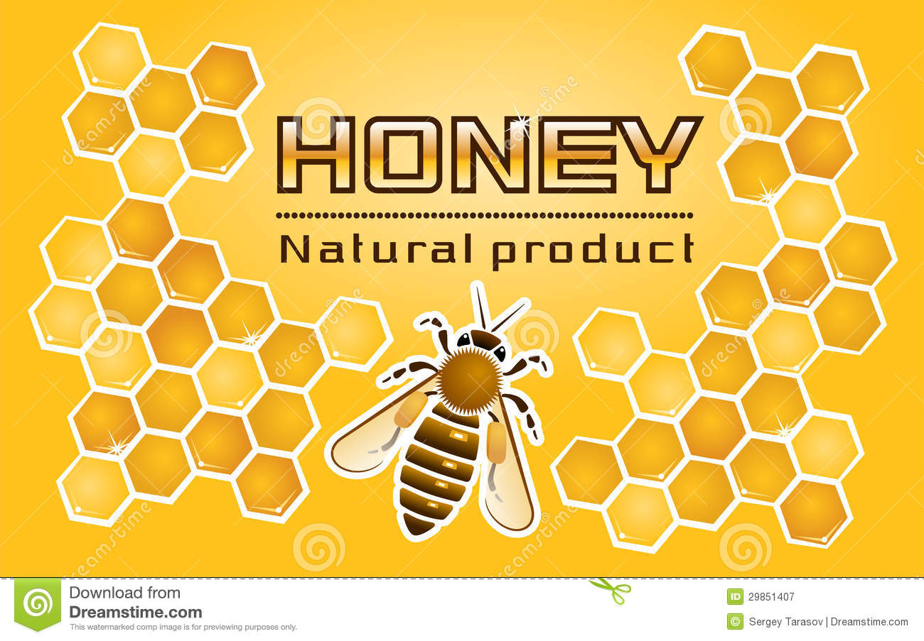 graphic relating to Honey Jar Labels Printable called Honey» Label inventory vector. Instance of agriculture