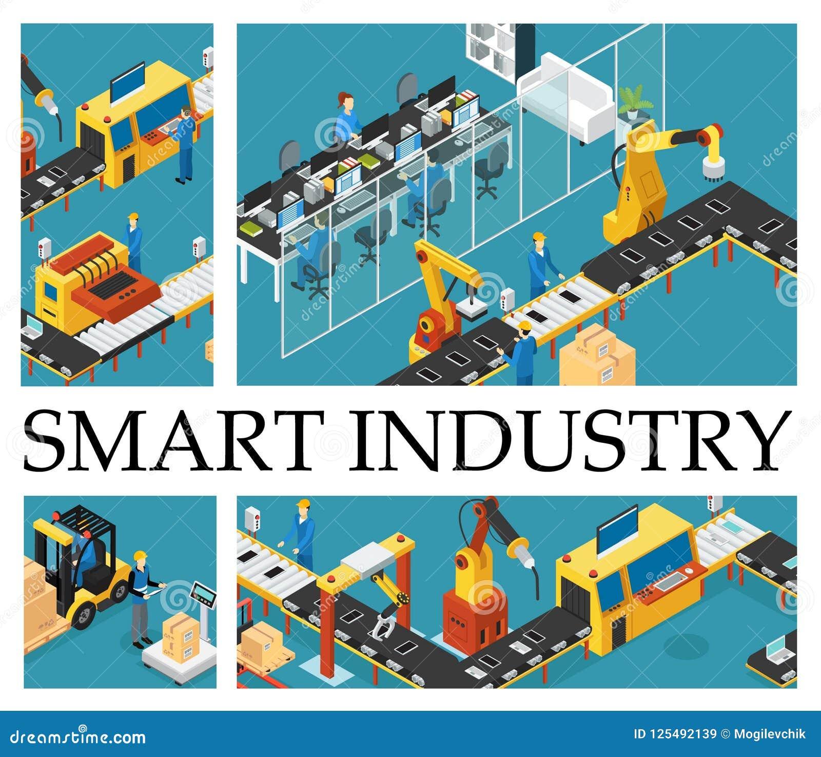 Composition isométrique en usine automatisée