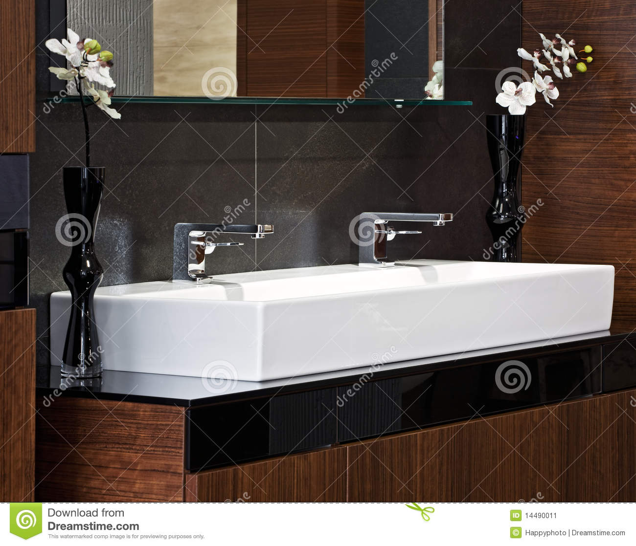 Composition in modern bathroom interior