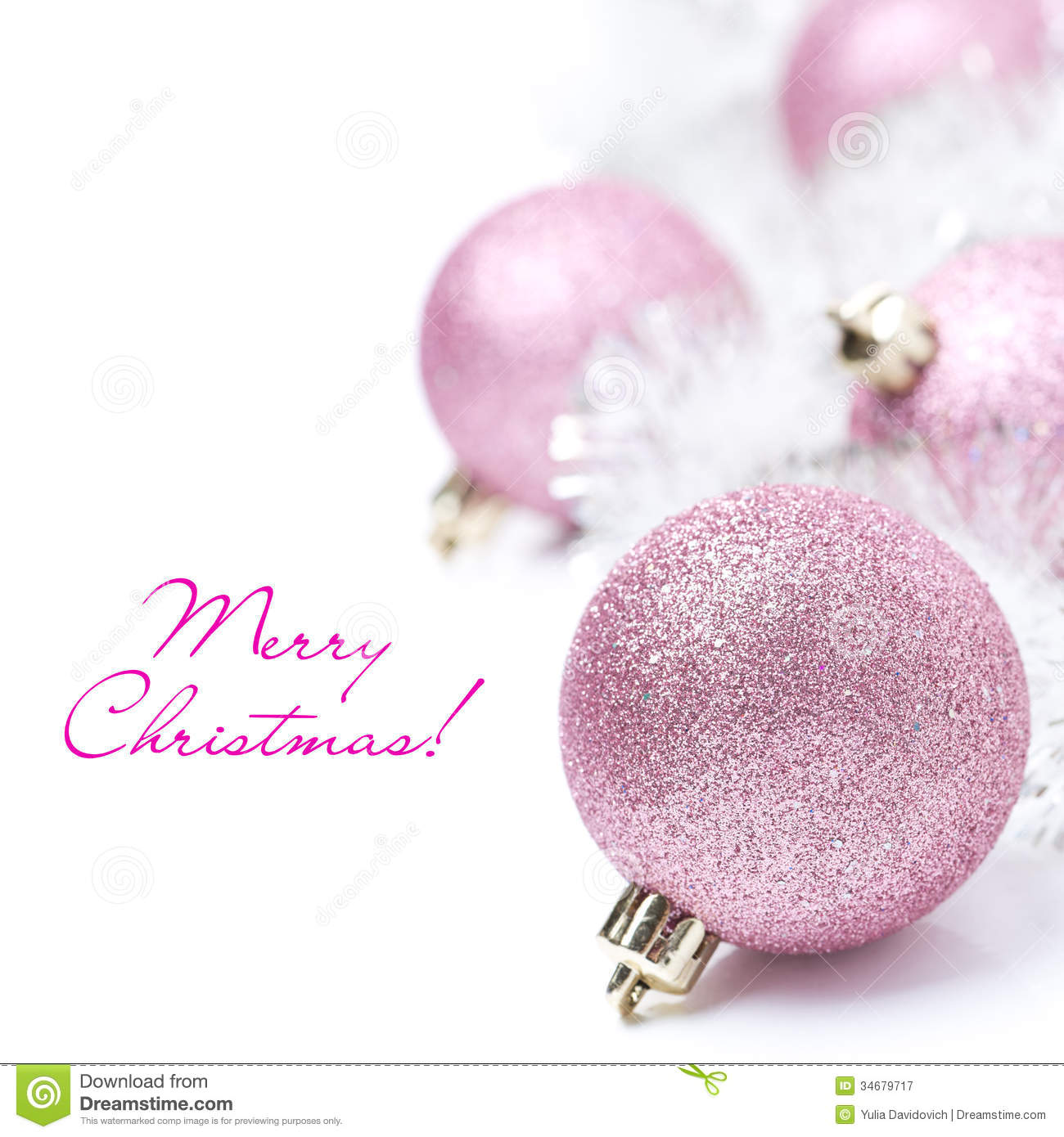 Pink Christmas Ornament Royalty Free Stock Images - Image: 35002849