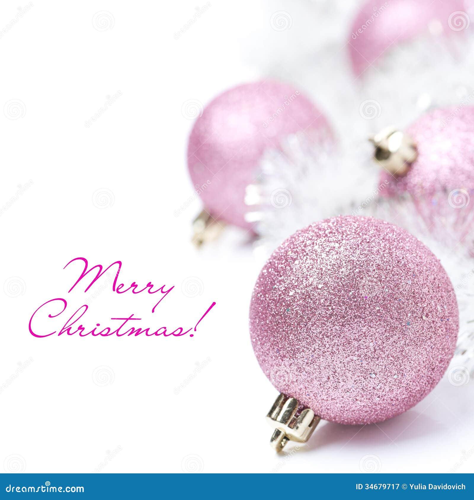 Christmas Tree Pink Ornaments