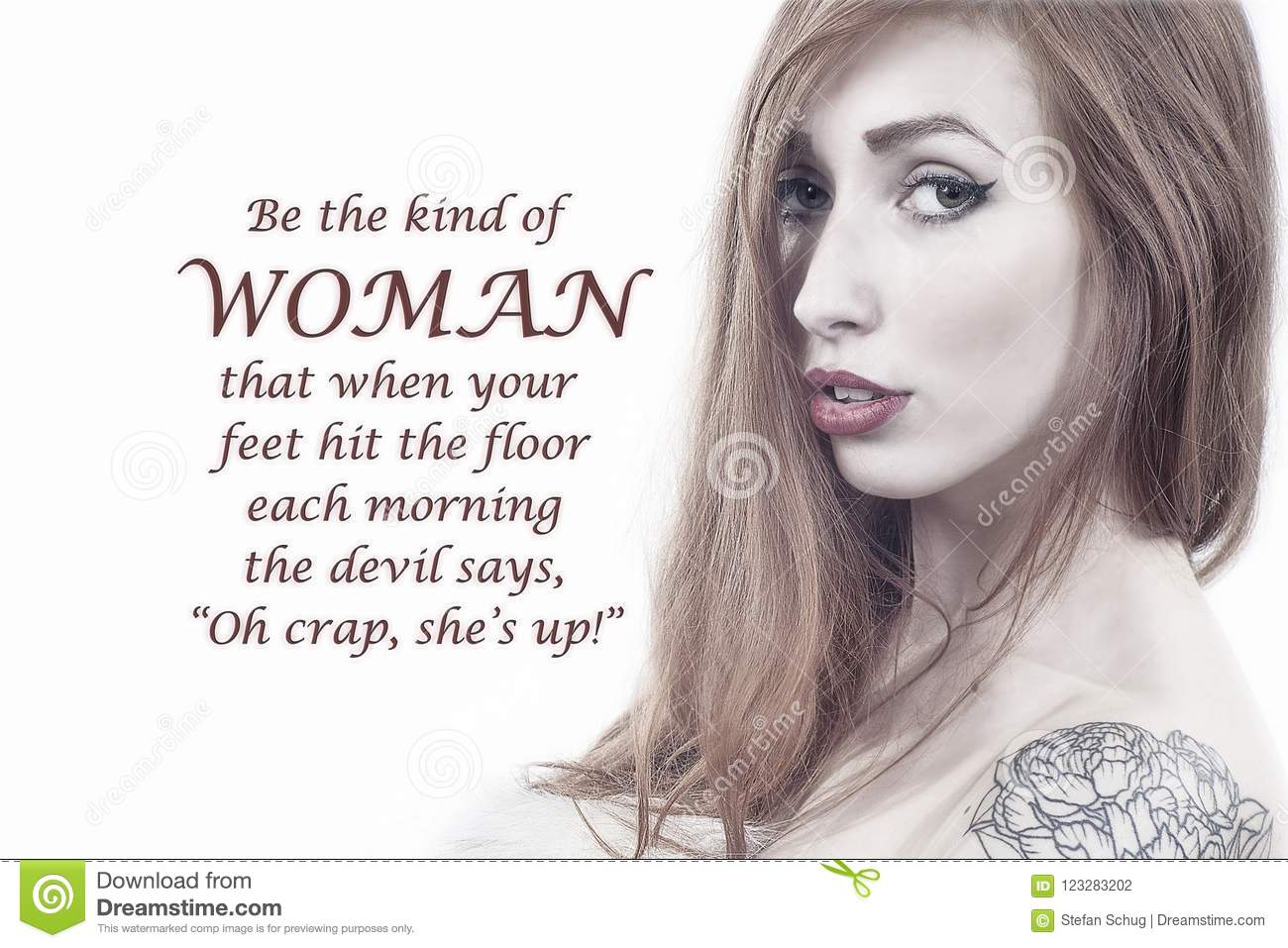 What A Woman Devils Fear Stock Illustration Illustration Of