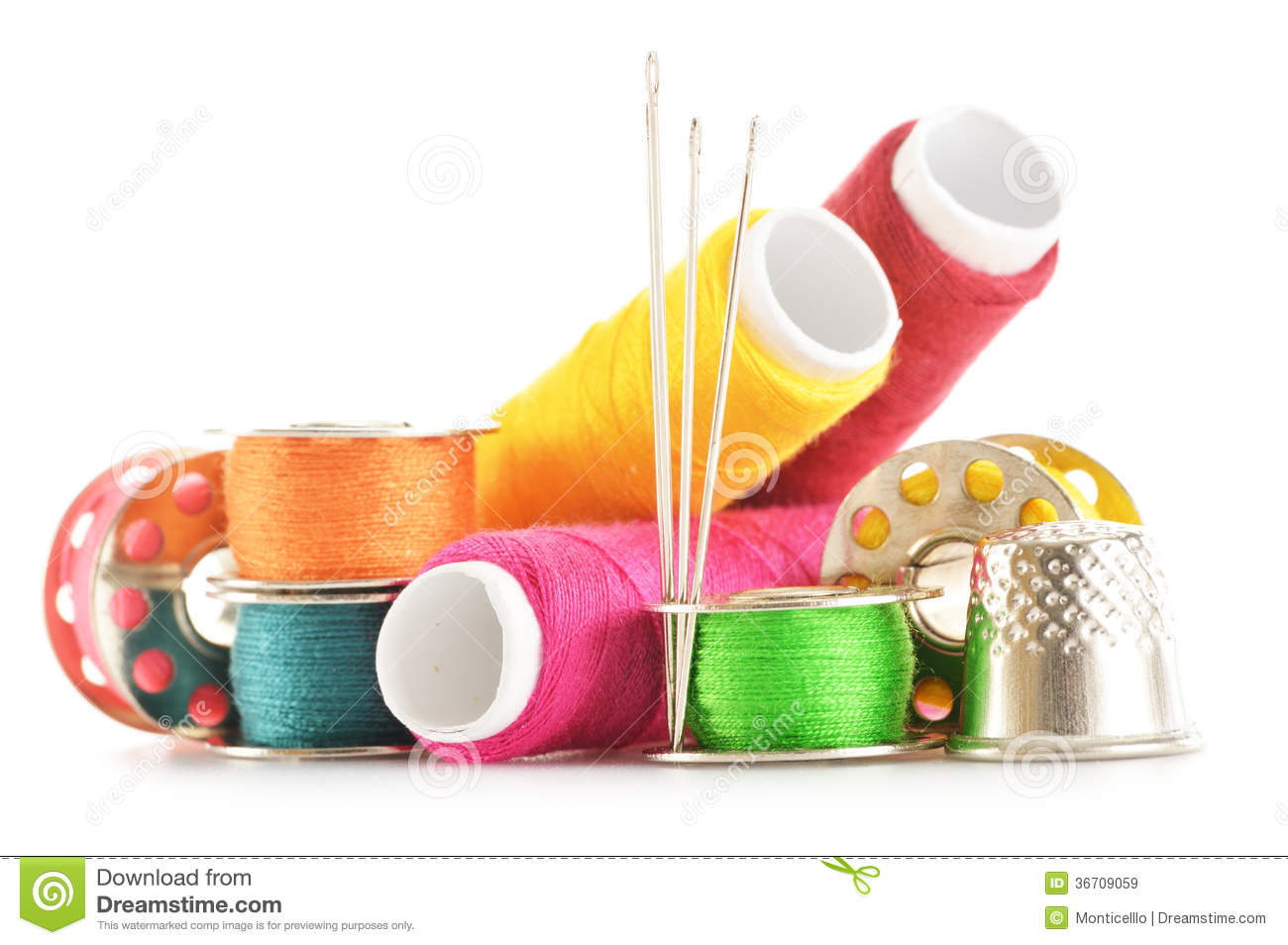 composition with tailor needles and threads over white stock image image of bobbin sewing. Black Bedroom Furniture Sets. Home Design Ideas