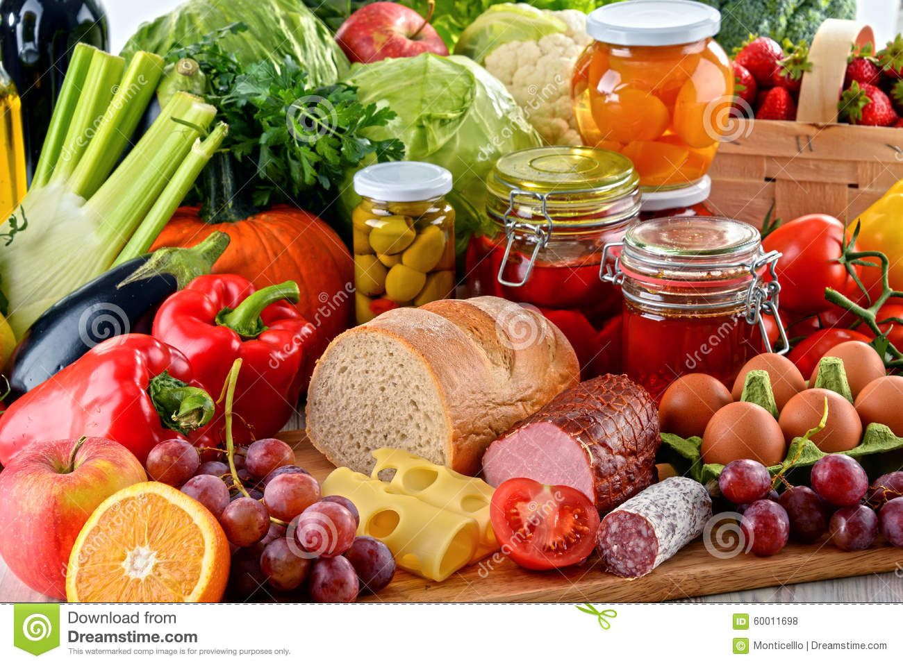 Composition With Variety Of Organic Food Stock Photo Image Of