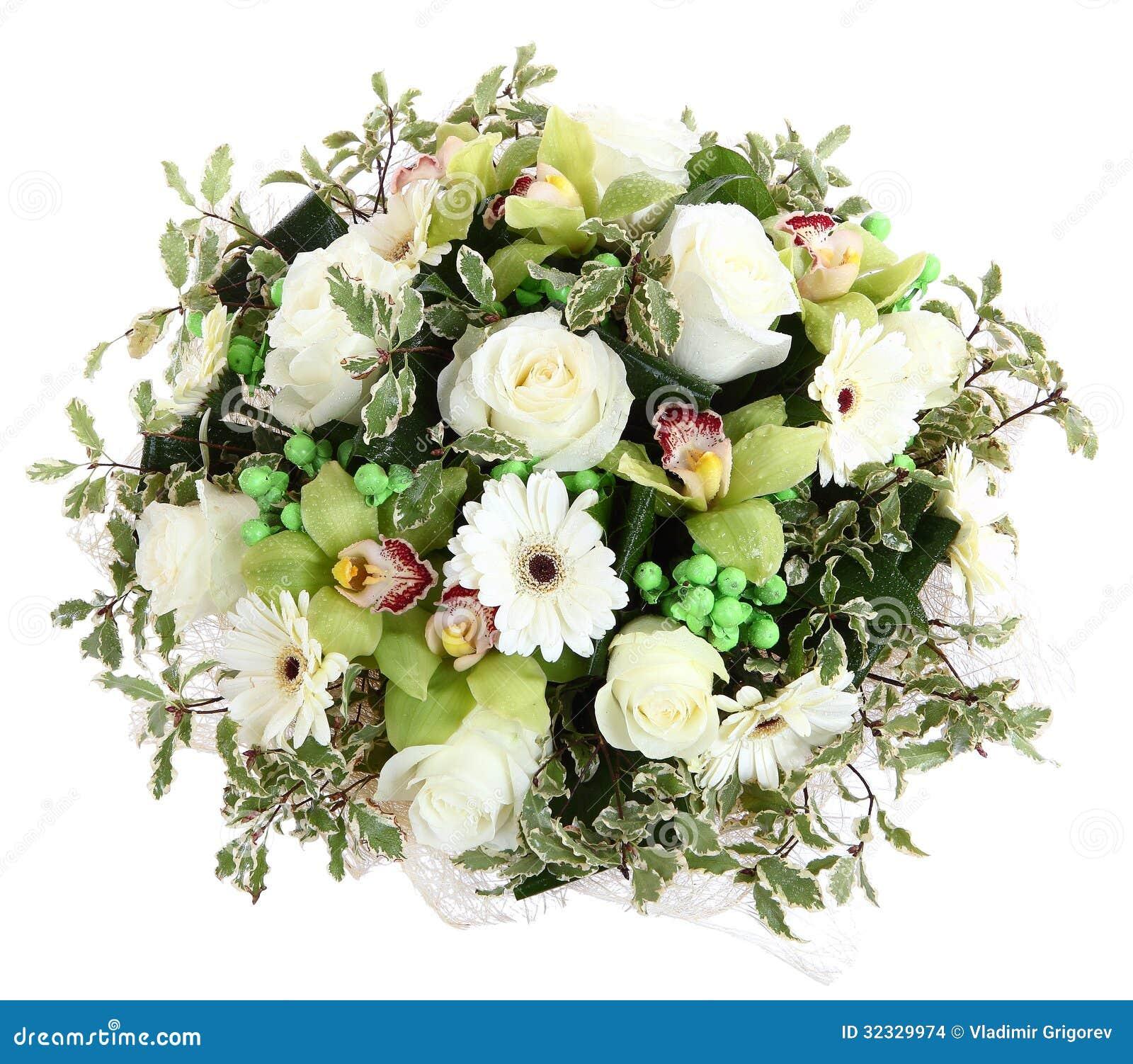 compositions florales des roses blanches des gerberas. Black Bedroom Furniture Sets. Home Design Ideas