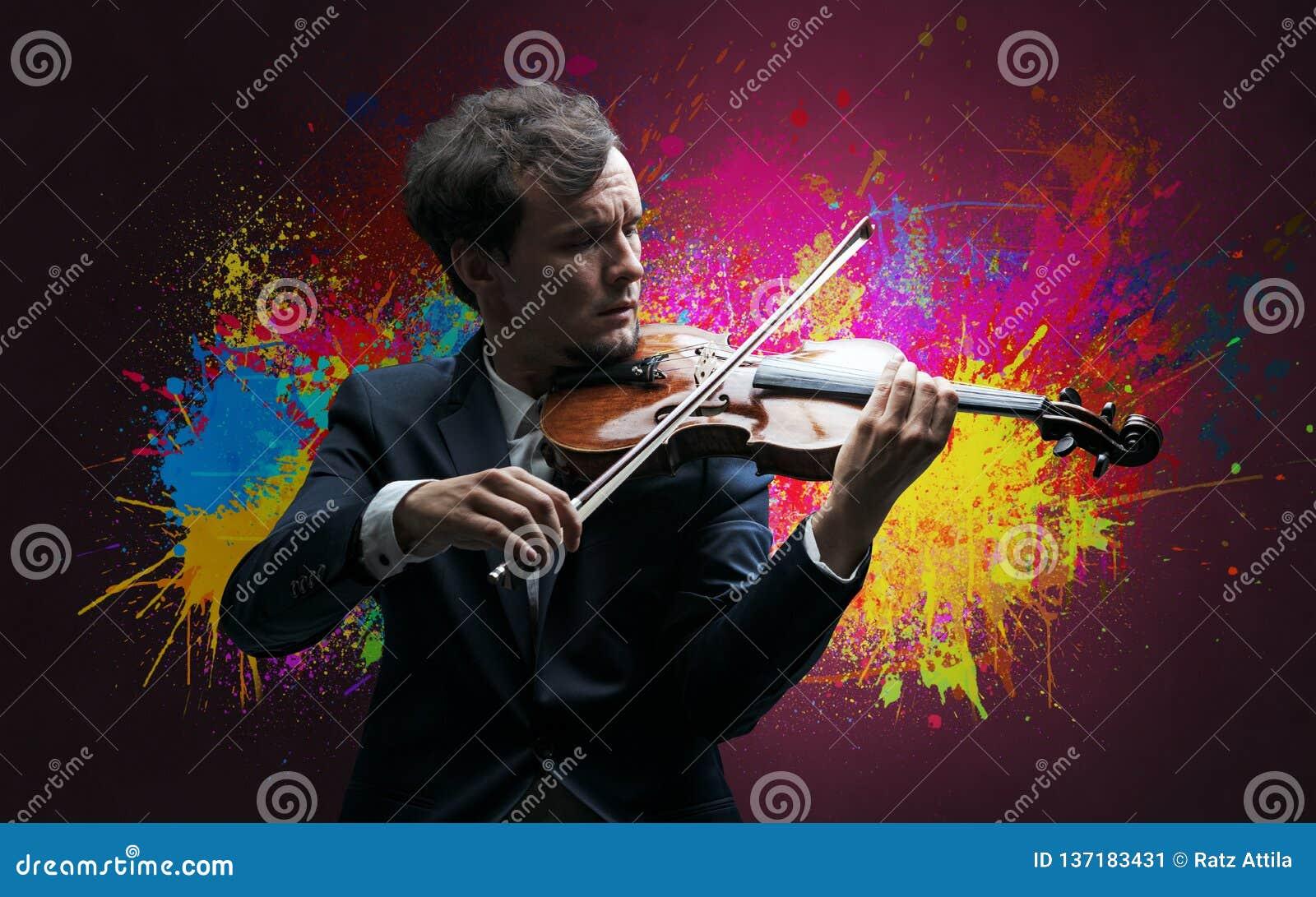 Compositor com splotch e seu violino