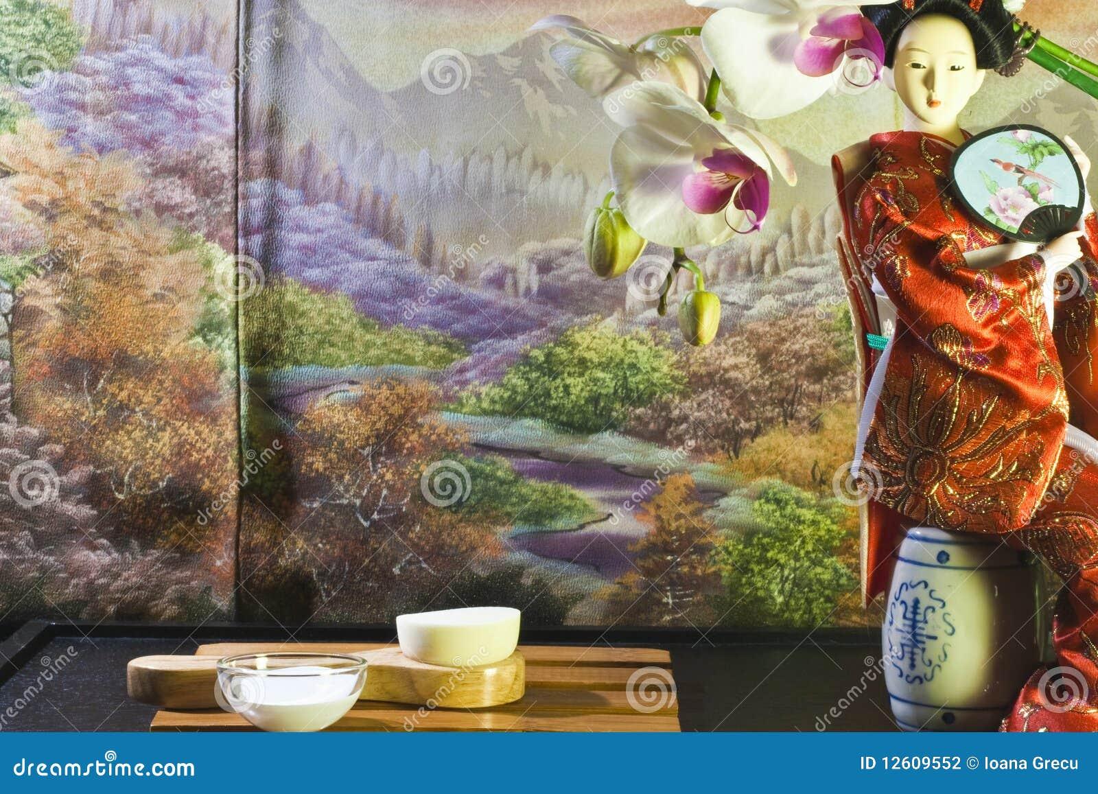 Composizione asiatica in bellezza