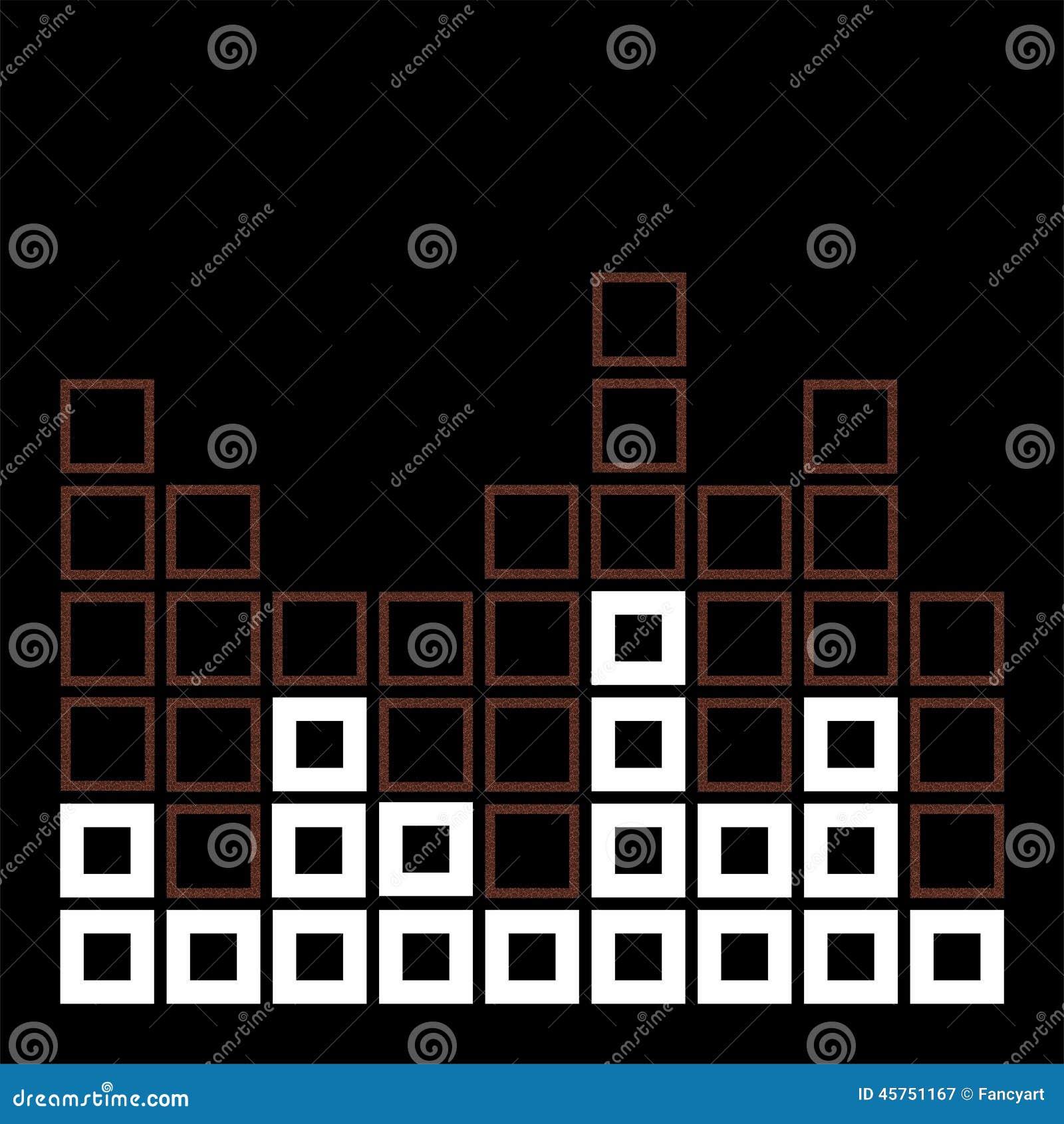 Composizione astratta con i quadrati