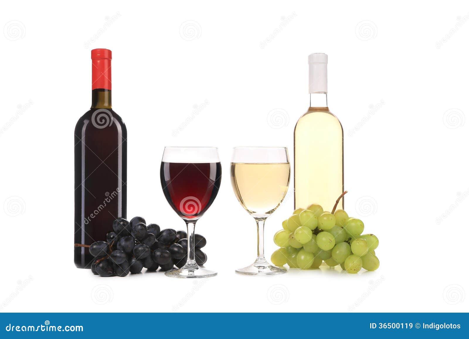 Composizione della bottiglia e del vetro di vino immagine for Bottiglia in francese