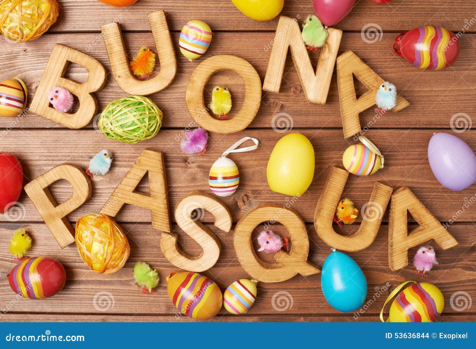 Composizione di legno nella lettera di Pasqua