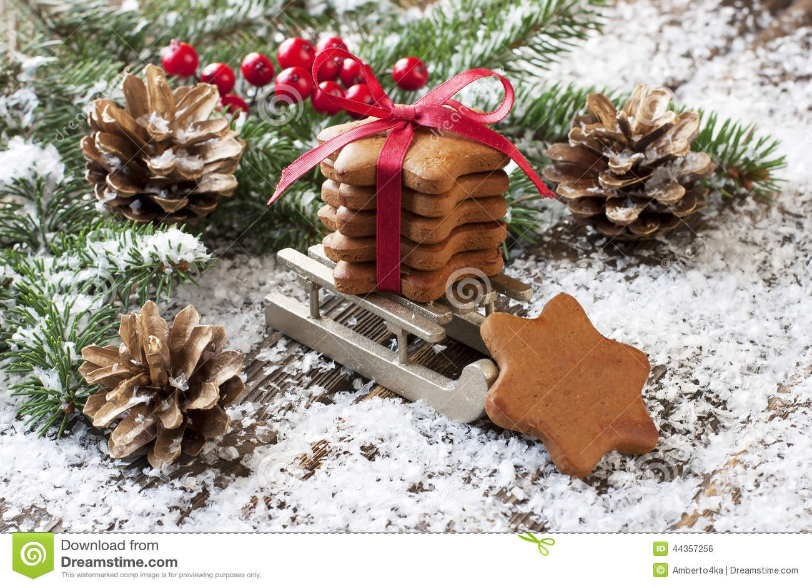 Composizione in Natale con la decorazione di festa