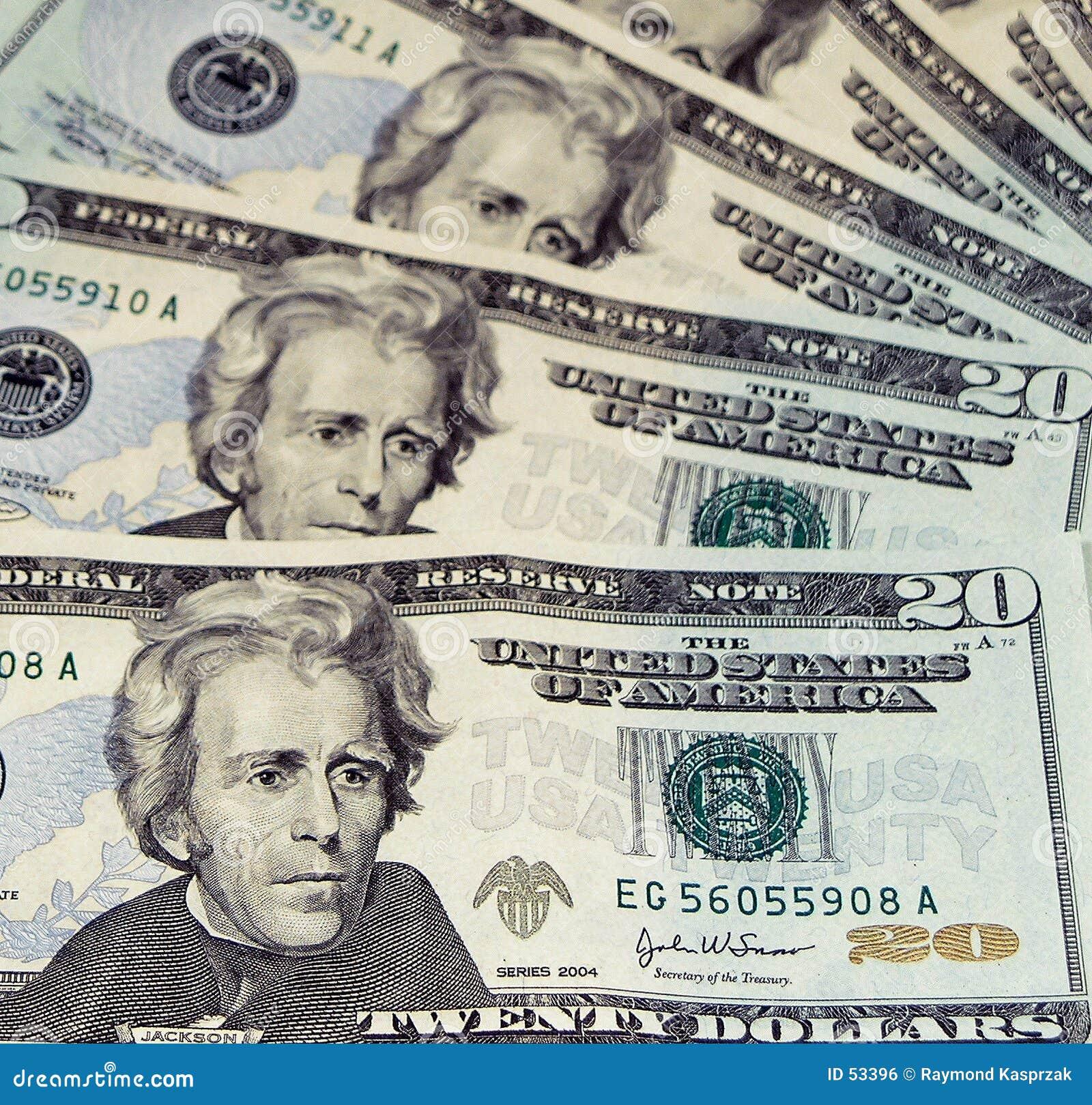 Composizione nel Bill del dollaro venti