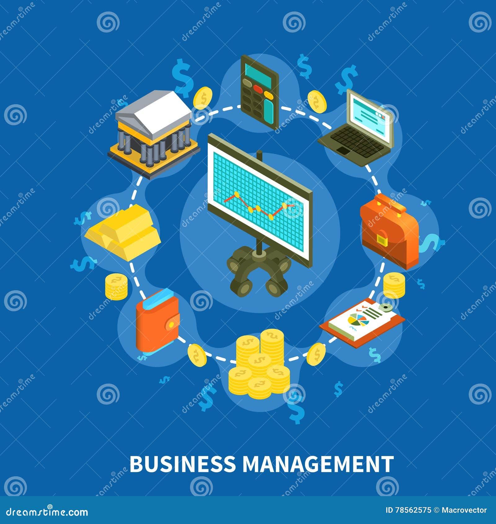 Composizione rotonda isometrica nella gestione di impresa