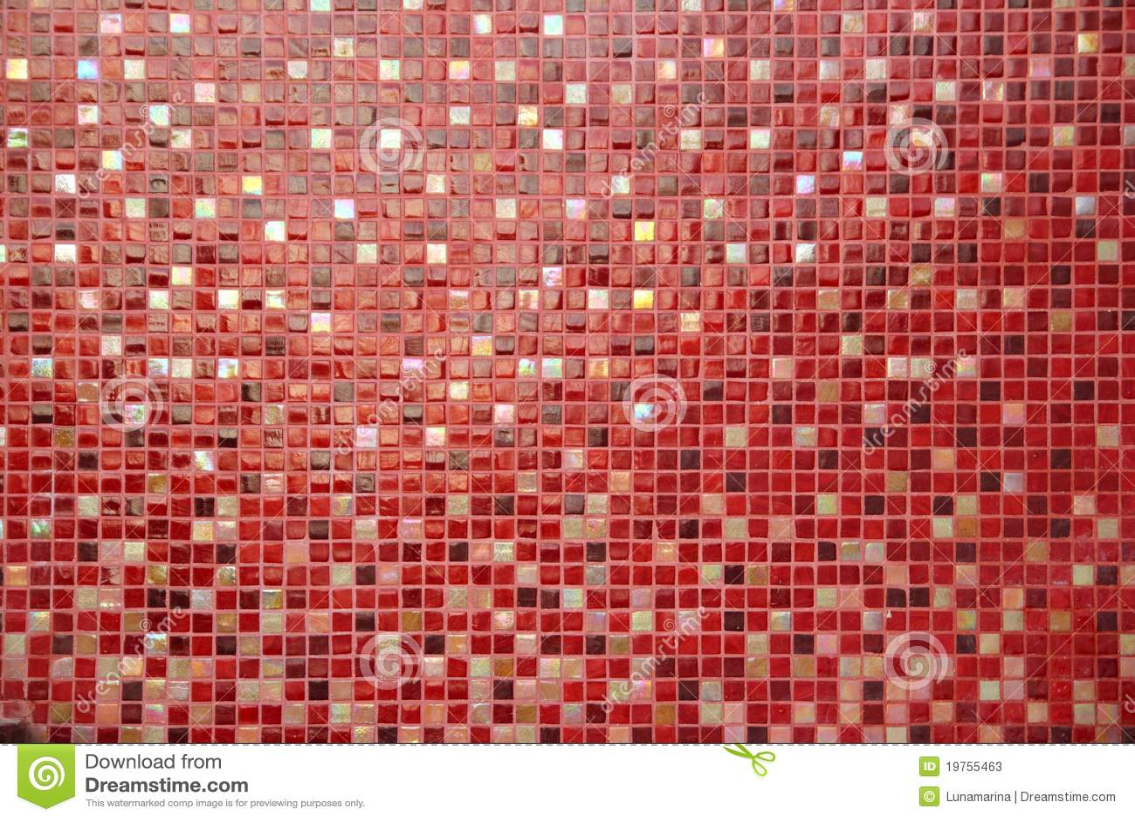 Composizione variopinta di vetro di ceramica nel mosaico delle