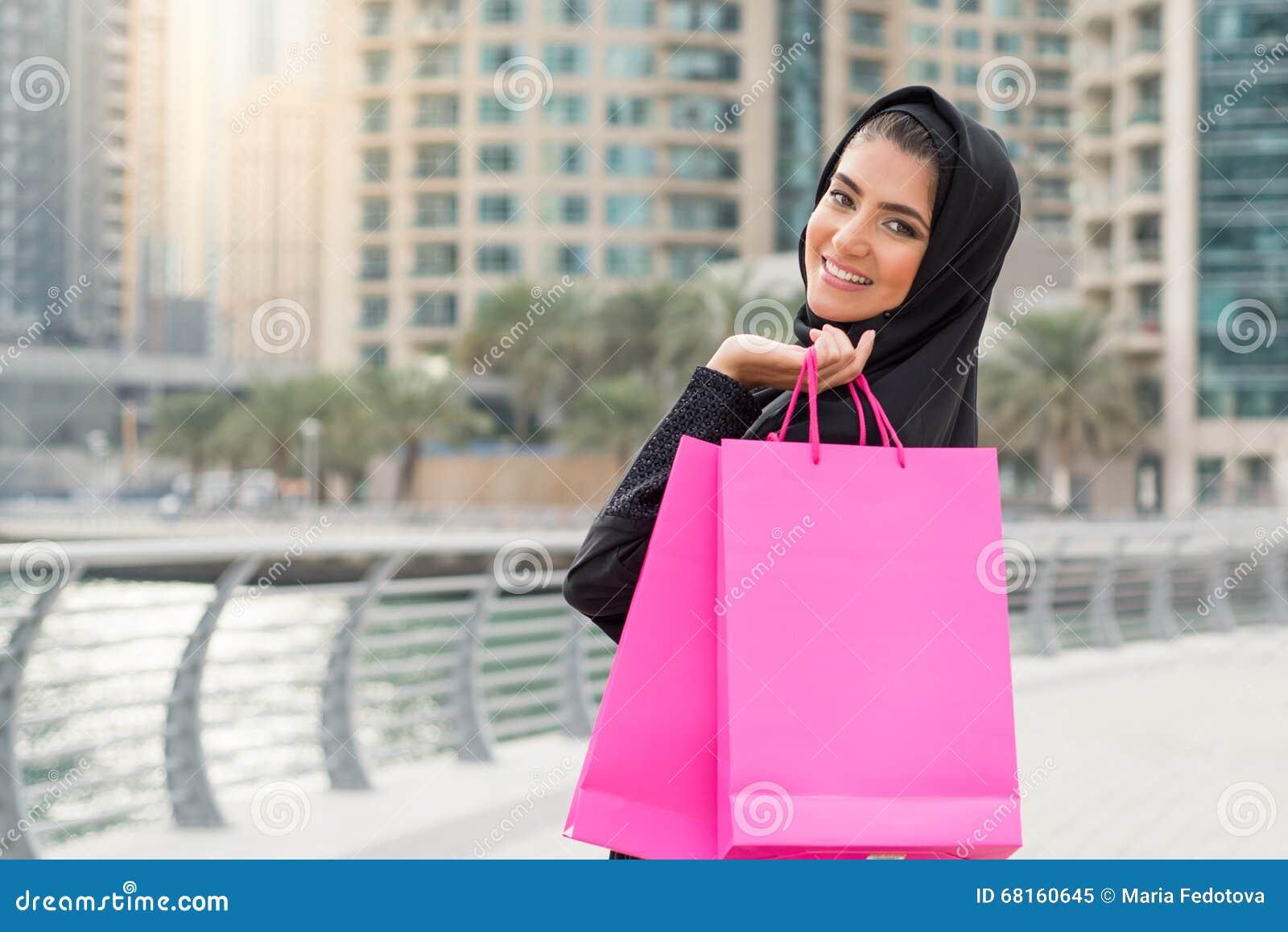 Compra árabe da mulher