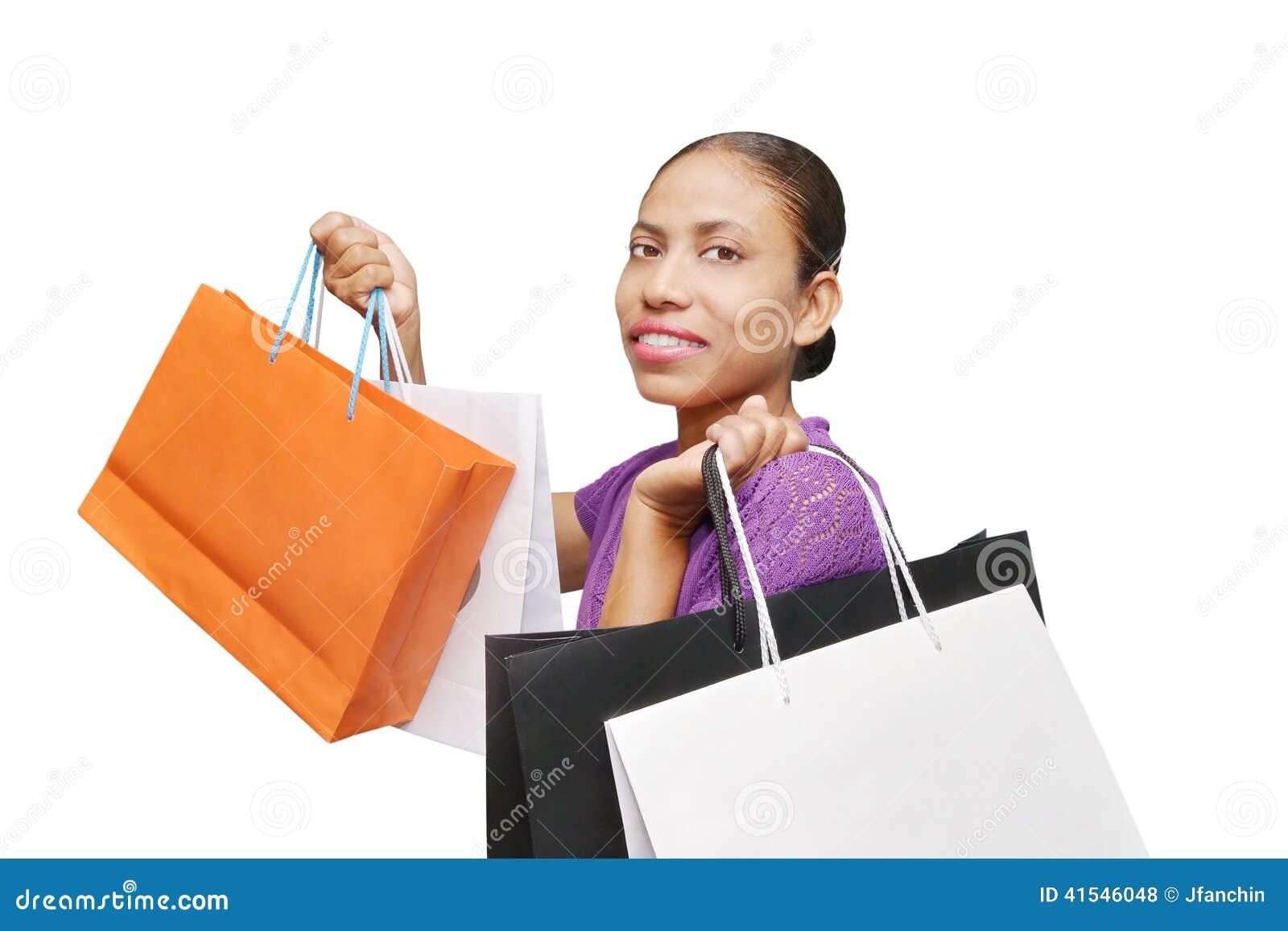 Compra da mulher isolada