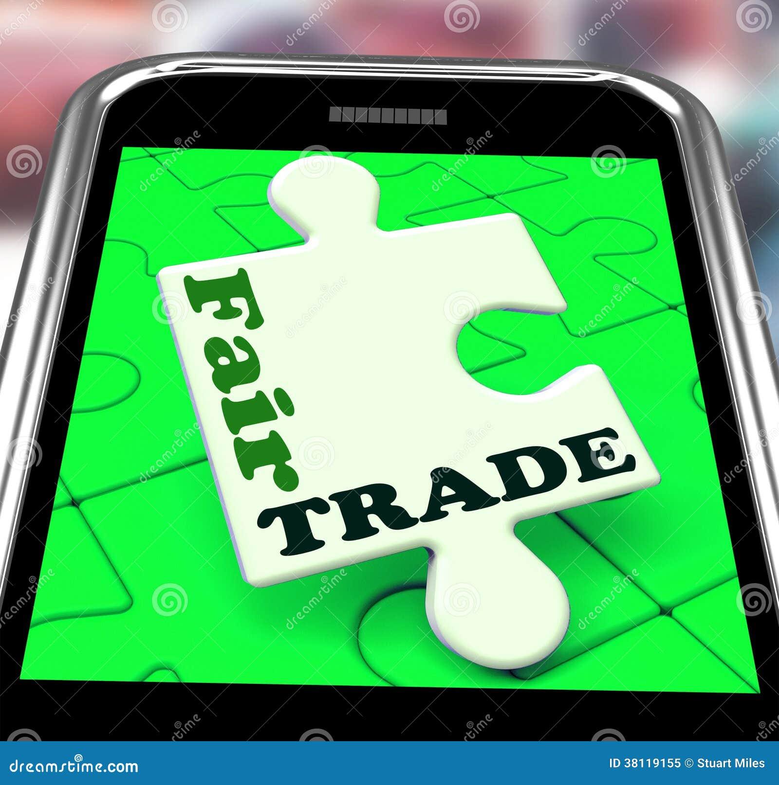 Compra de las demostraciones de Smartphone del comercio justo