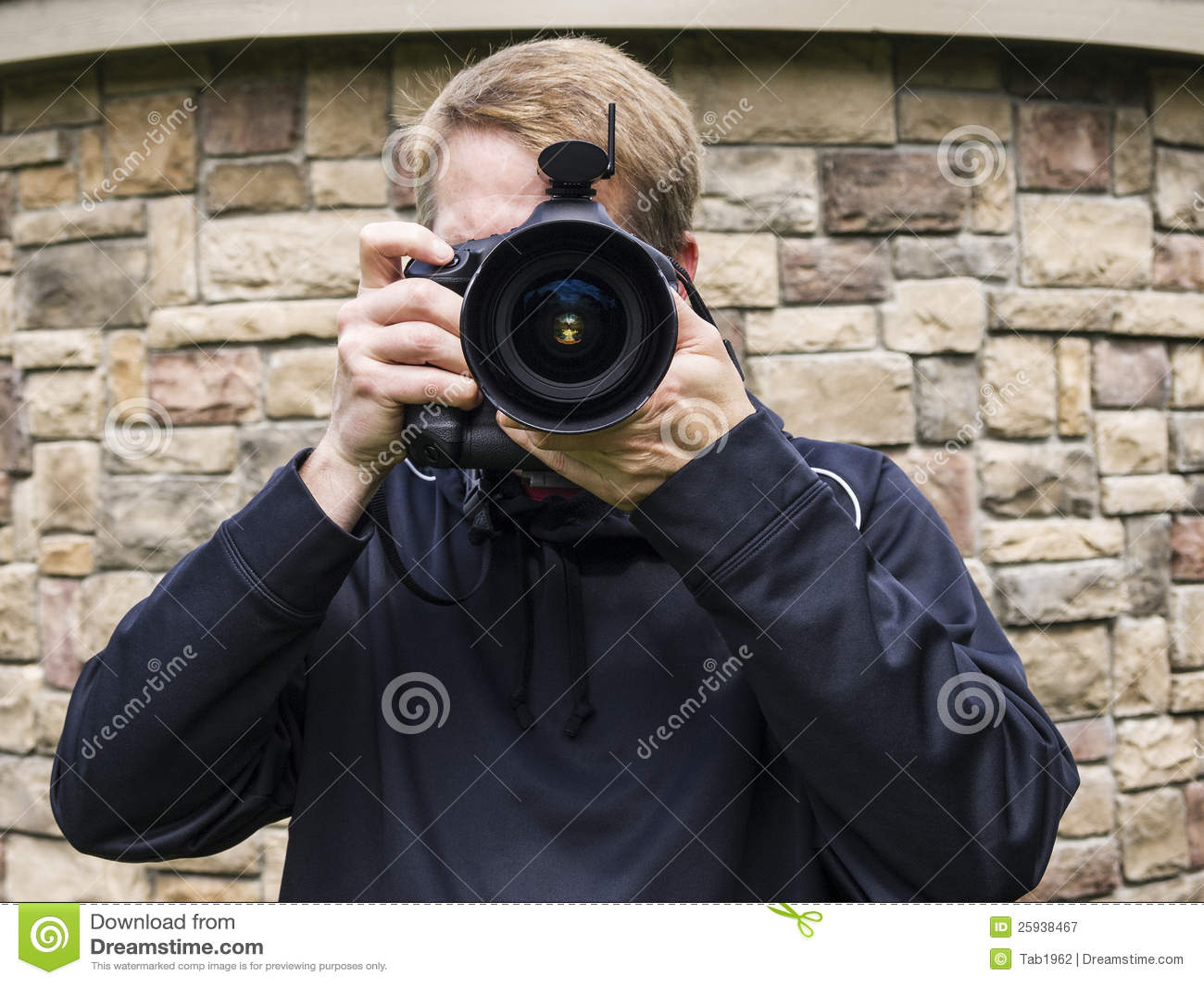 Comprador masculino da foto