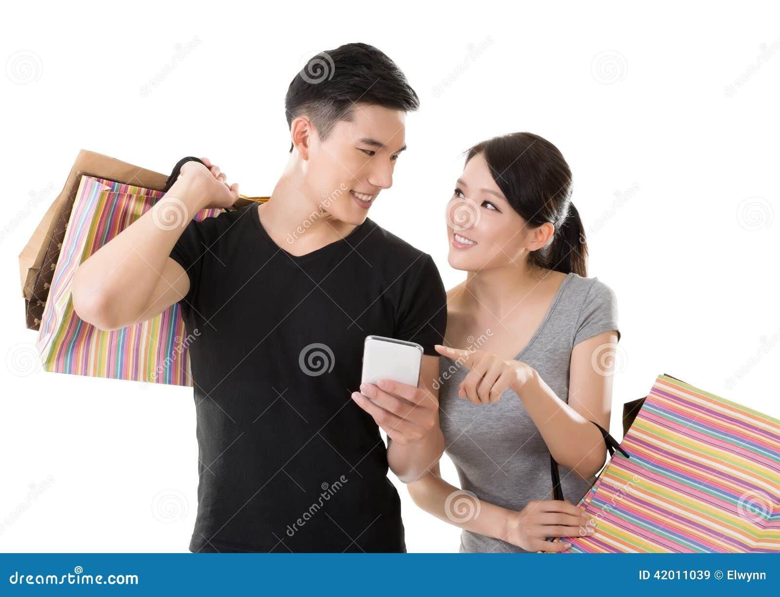 Compras asiáticas de los pares
