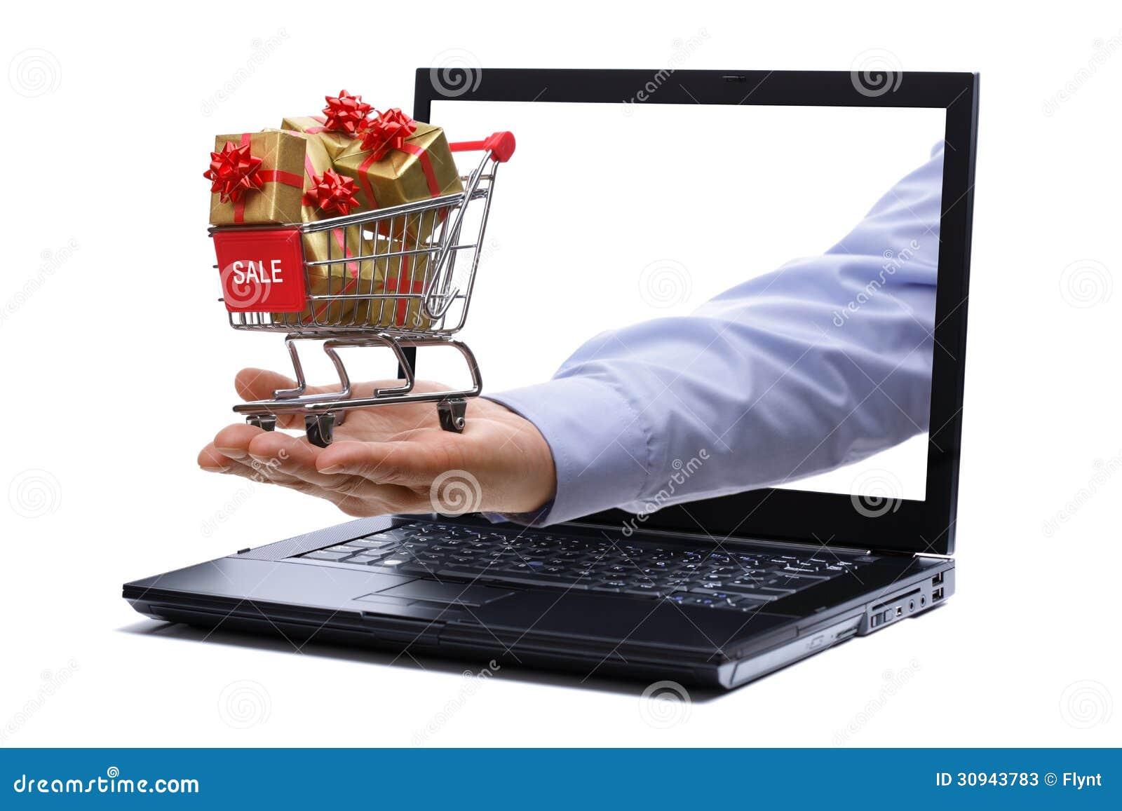Compras del regalo del comercio electrónico