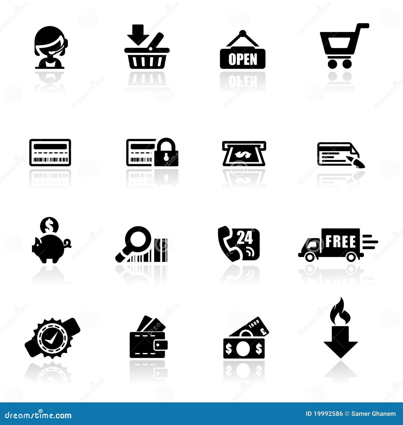 Compras fijadas iconos