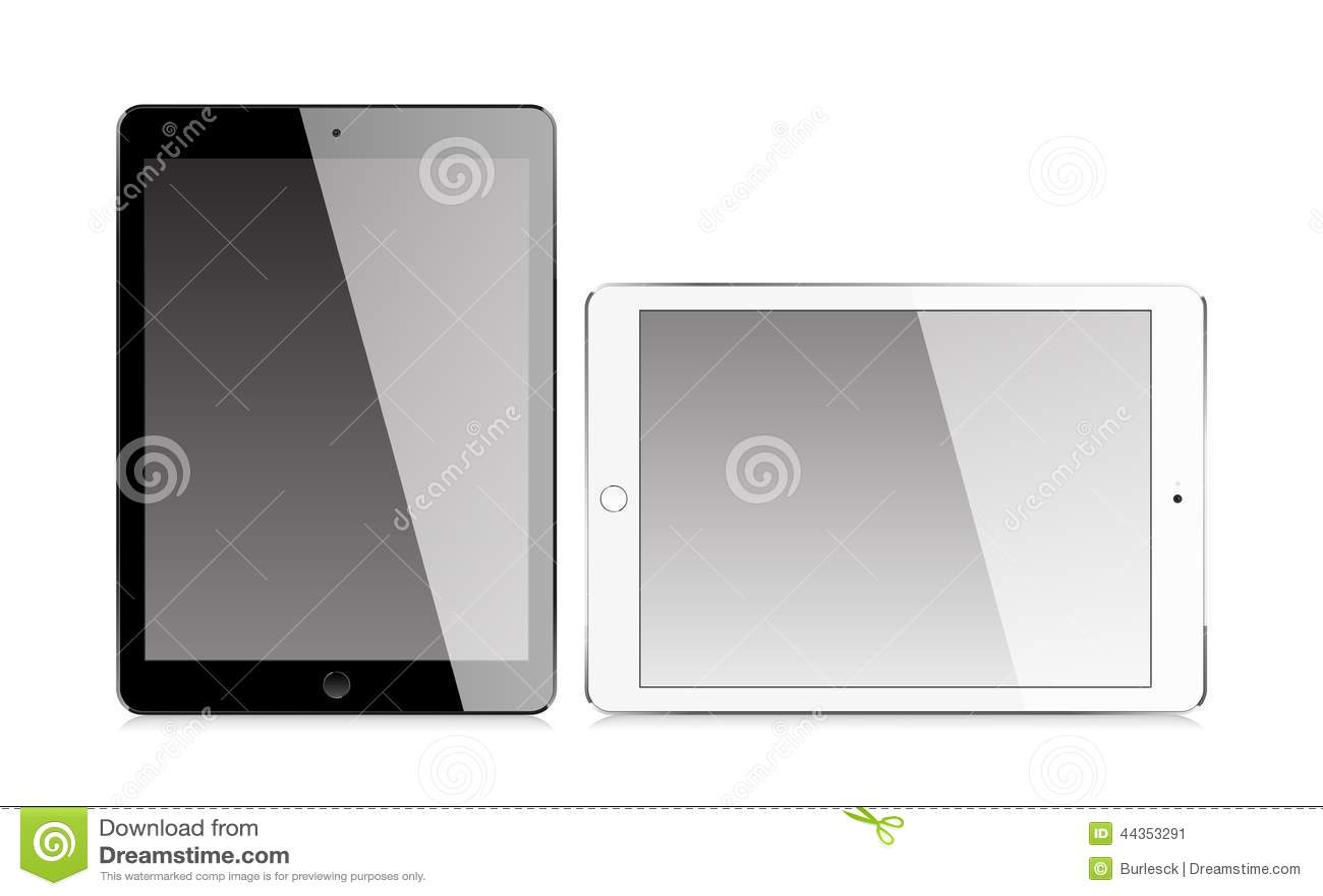 Compressa realistica con lo schermo in bianco