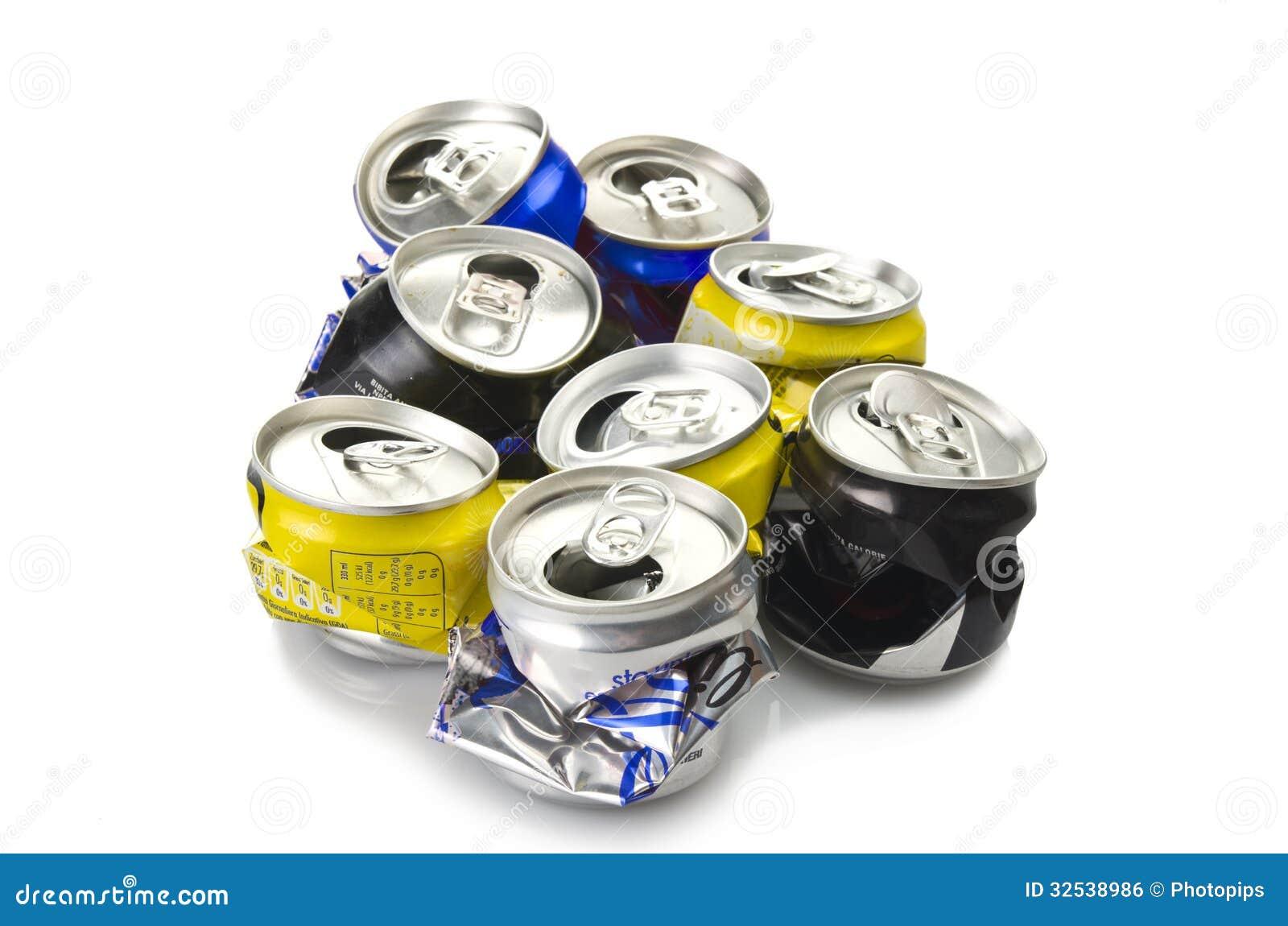 compressed aluminium can stock photo image of industrial 32538986