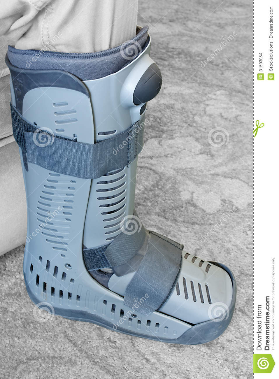 Compression Boot Or Soft Cast Footwear Stock Images