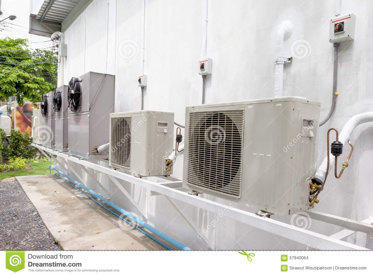 Compressor Unit Of Air Conditioner Stock Photo Image Of