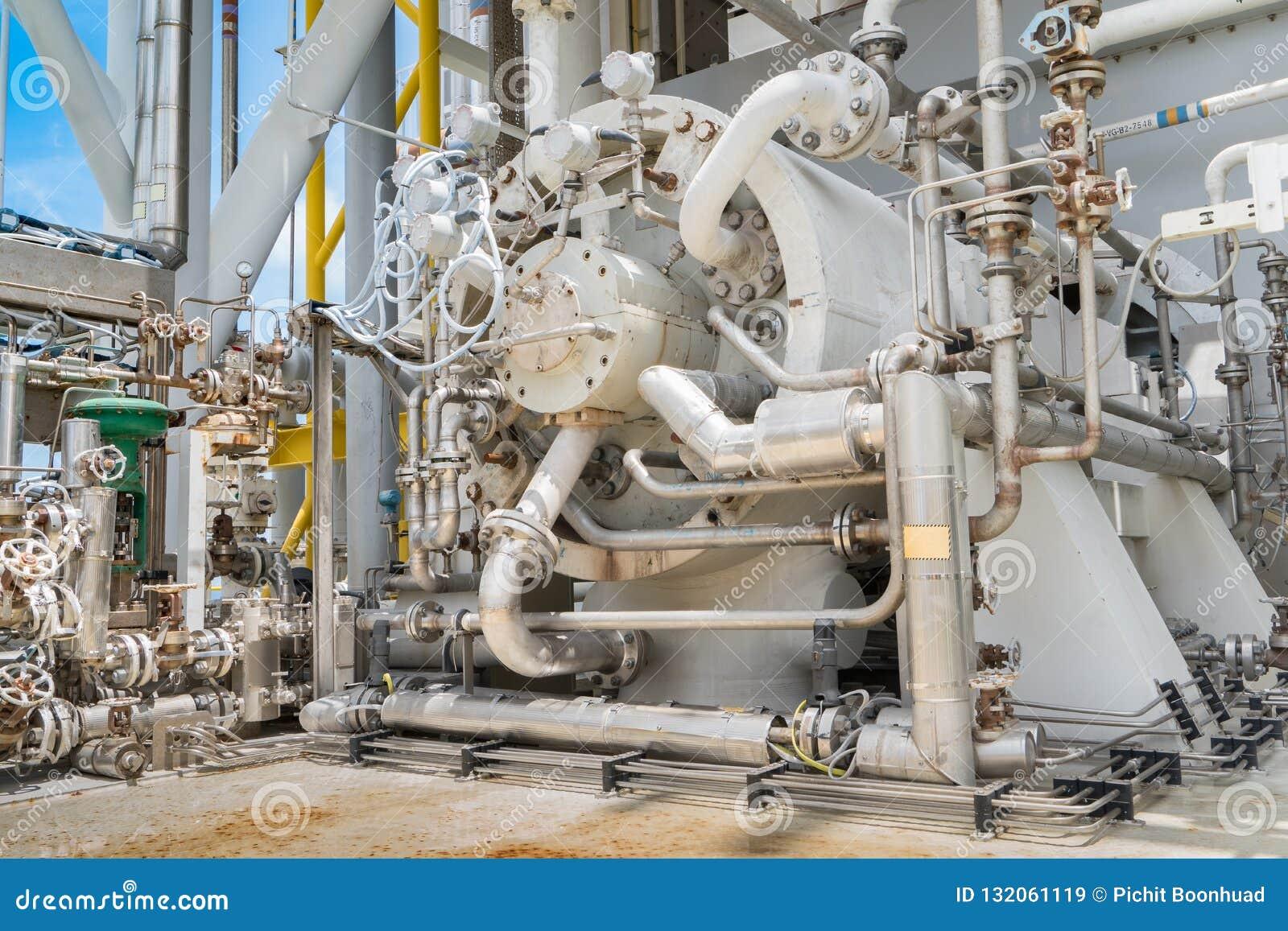 Compressor van de gasturbine, centrifugaal en multistadiumtype