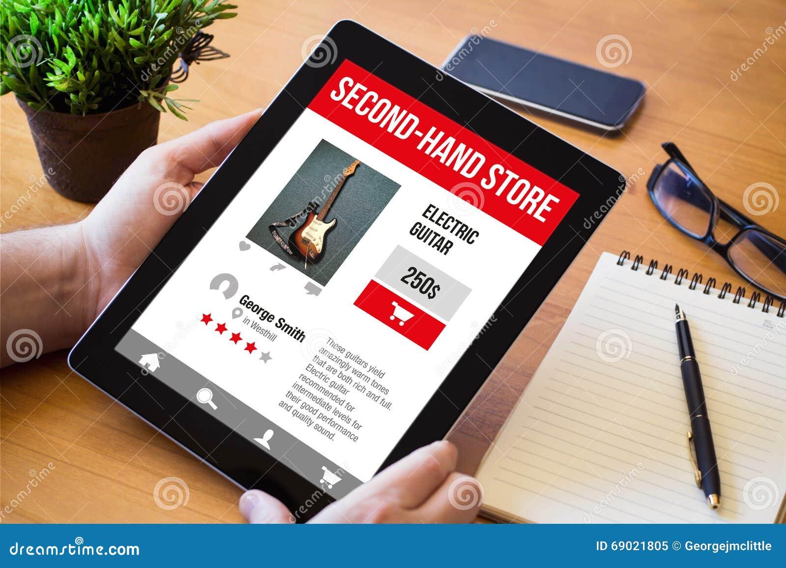 Comprimé de bureau avec le web sensible de magasin doccasion image