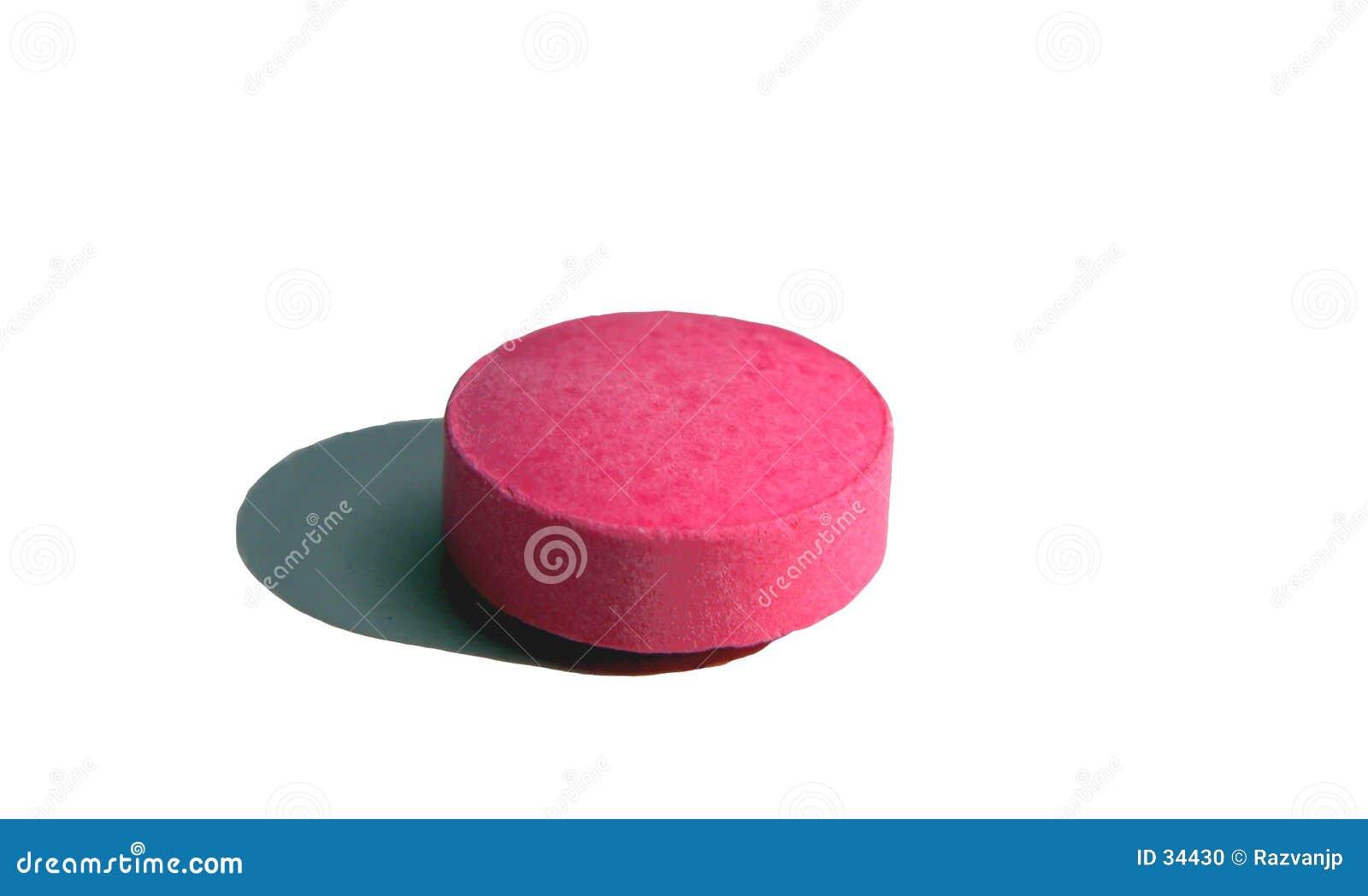 Comprimido cor-de-rosa