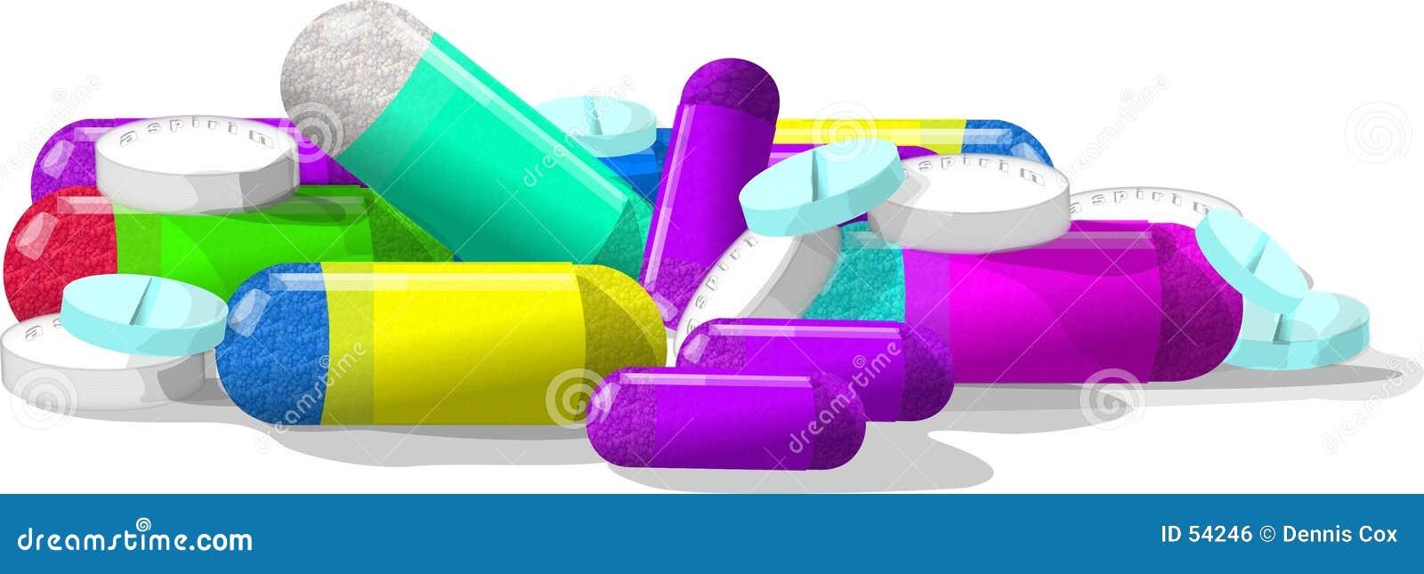 Comprimidos, comprimidos & mais comprimidos