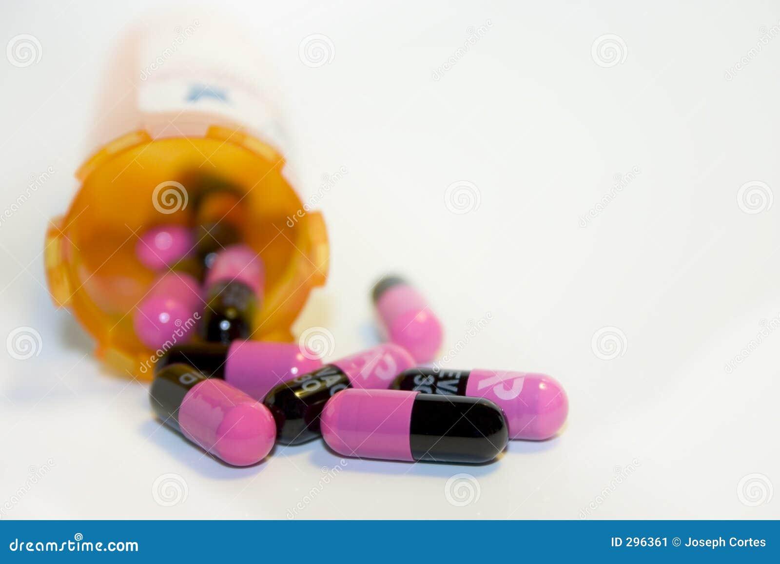 Comprimidos cor-de-rosa
