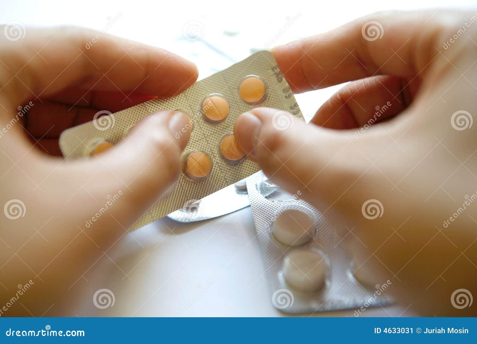 Comprimidos de estalo da mão