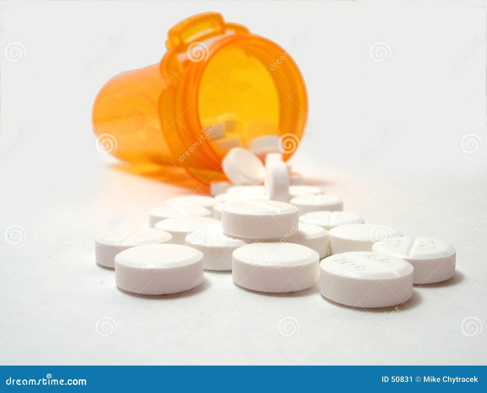 Comprimidos derramados