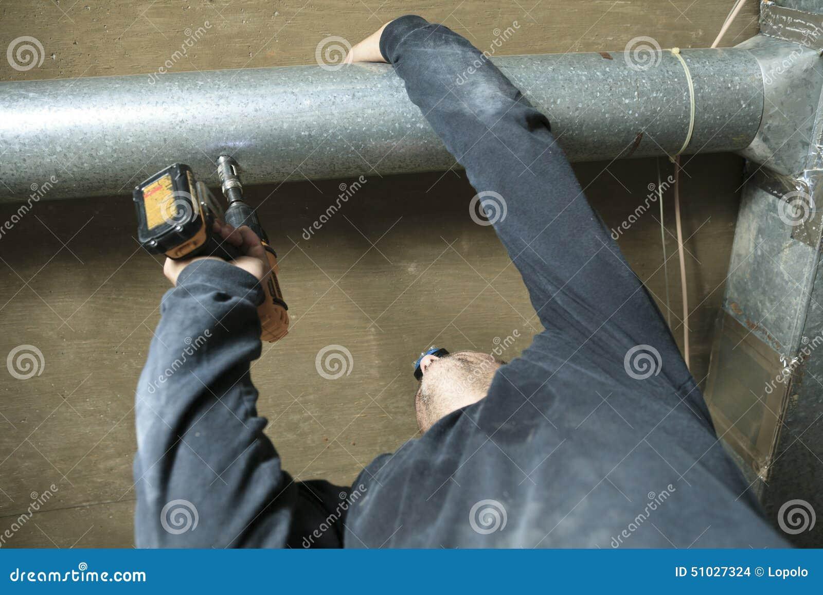 Comprobación para del limpiador de la ventilación polvo en él