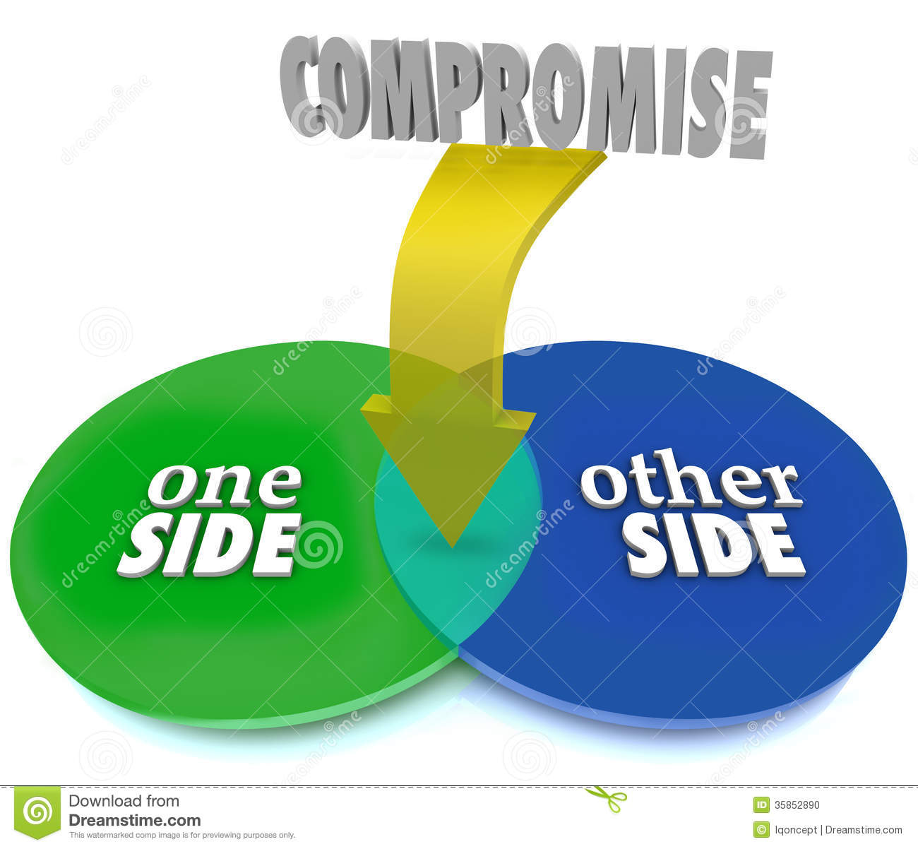 Compromise venn diagram negotiate settlement stock illustration compromise venn diagram negotiate settlement pooptronica