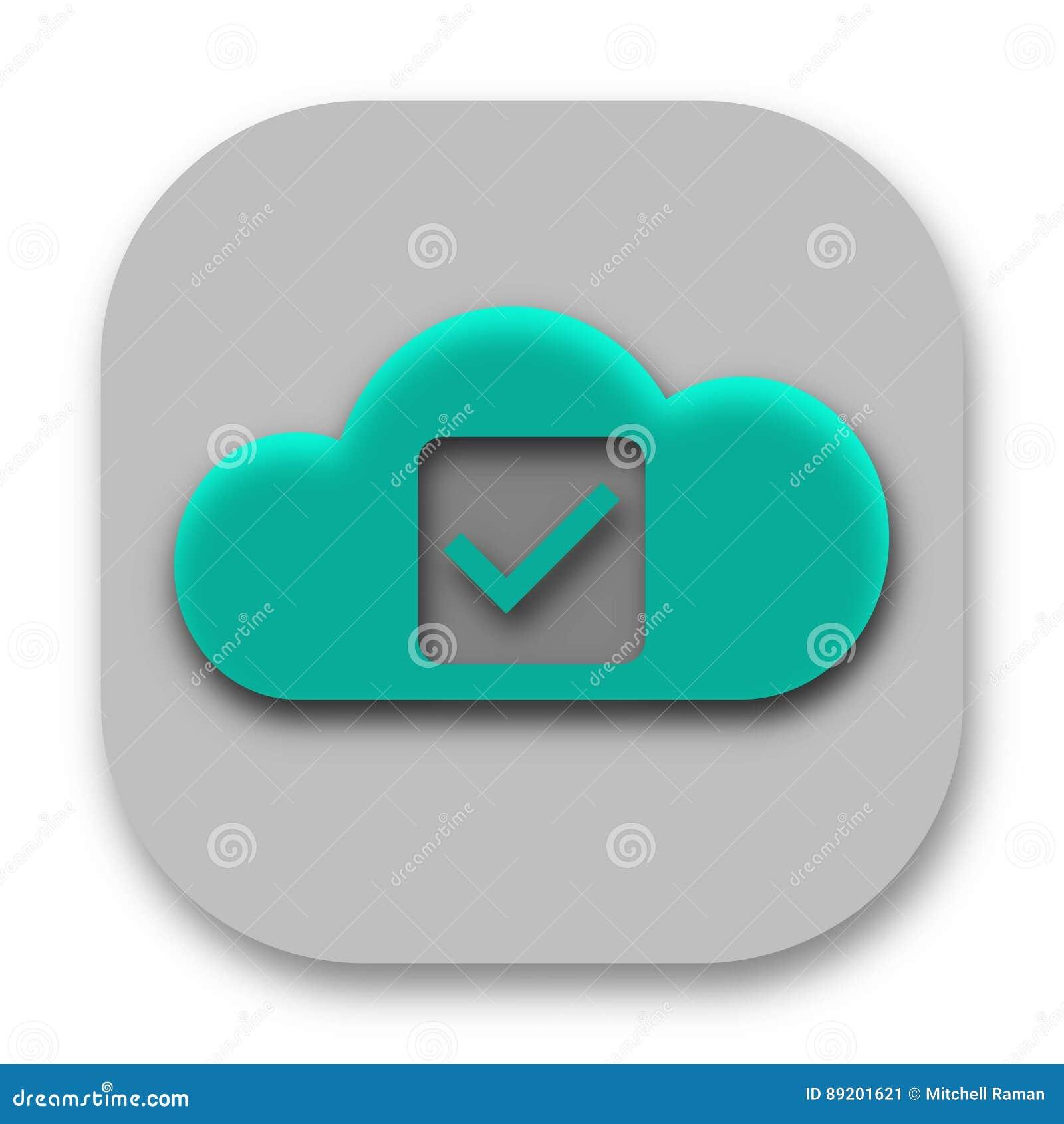 Compruebe a Mark Cloud App Logo