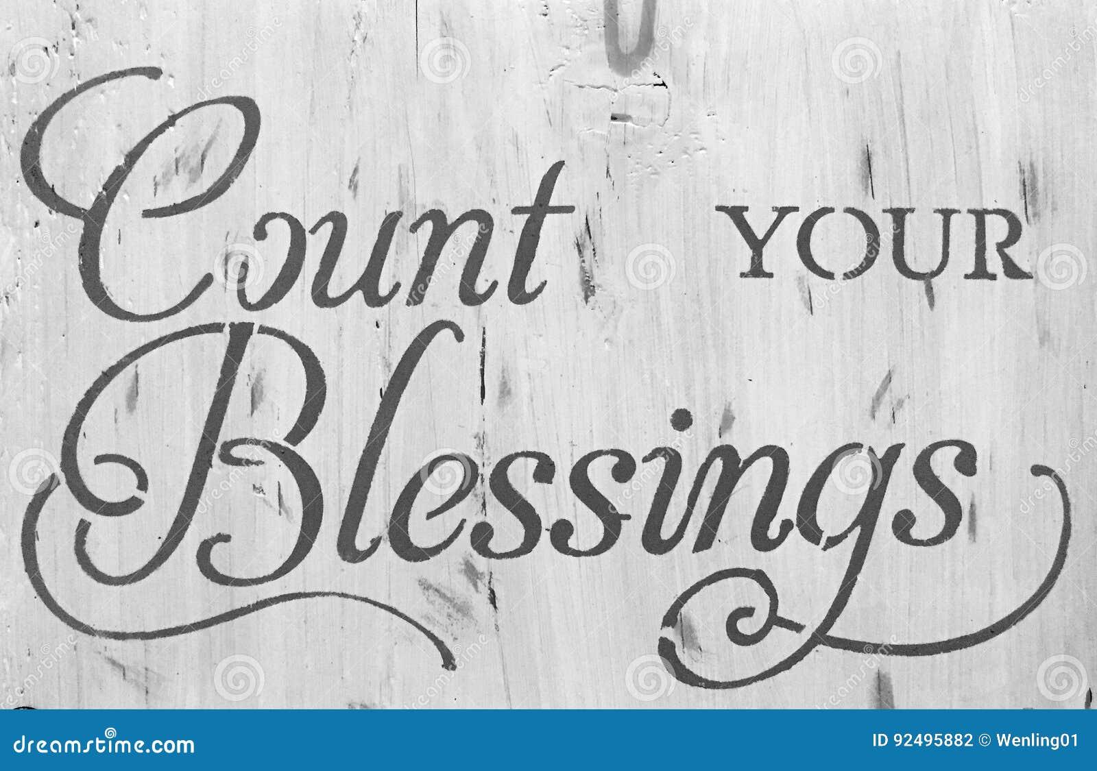 Compte de signe votre bénédiction