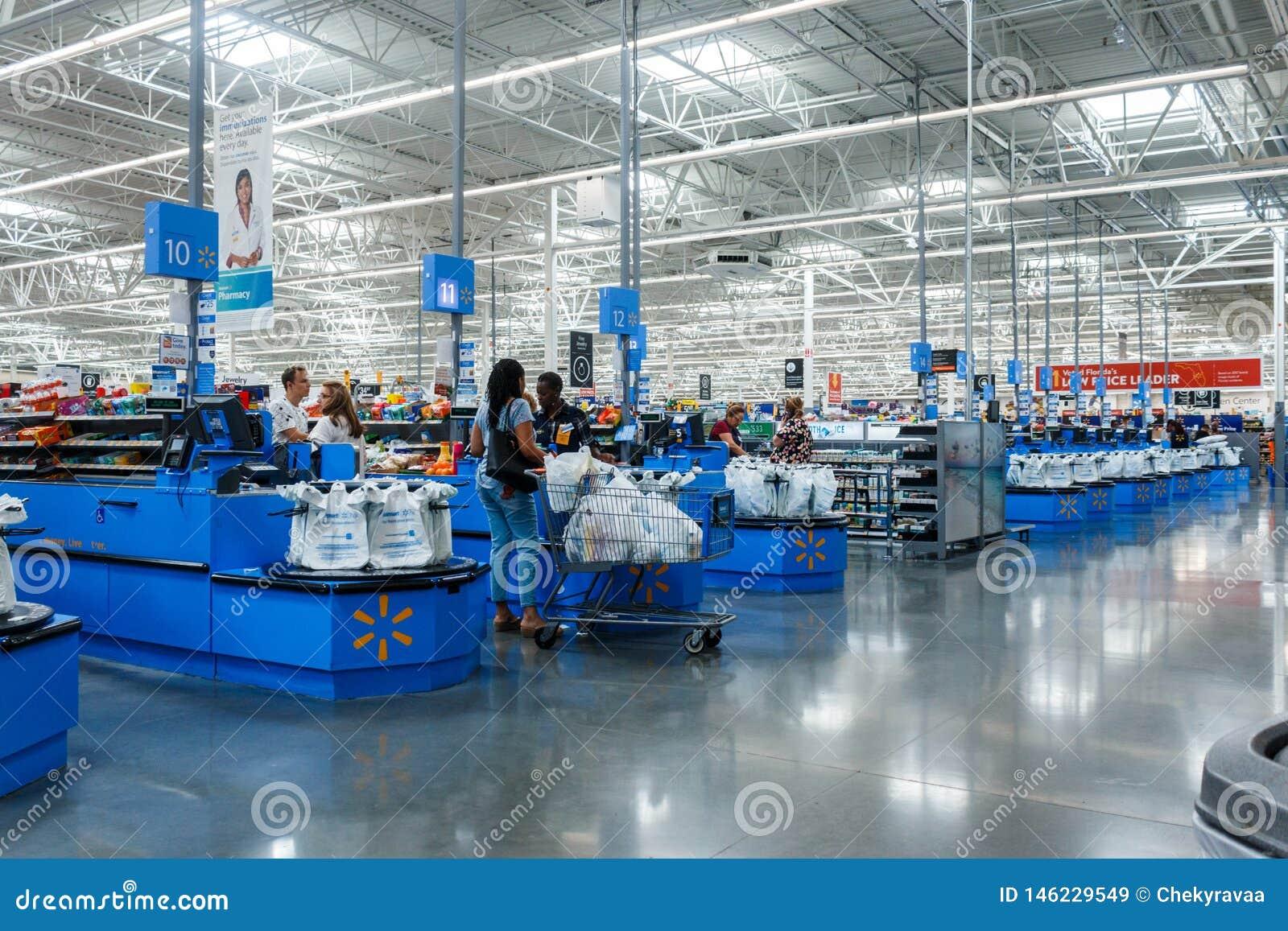 Compteur de caissier à Walmart Walmart inc. est une soci?t? au d?tail multinationale am?ricaine