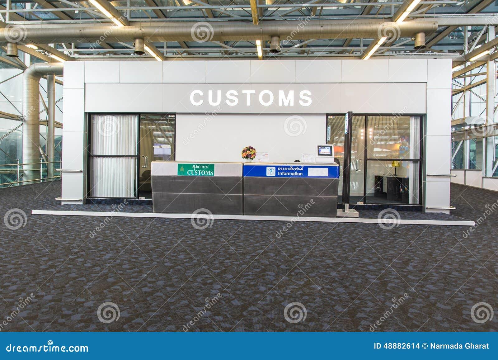 Compteur de contrôle de douane d immigration à l aéroport