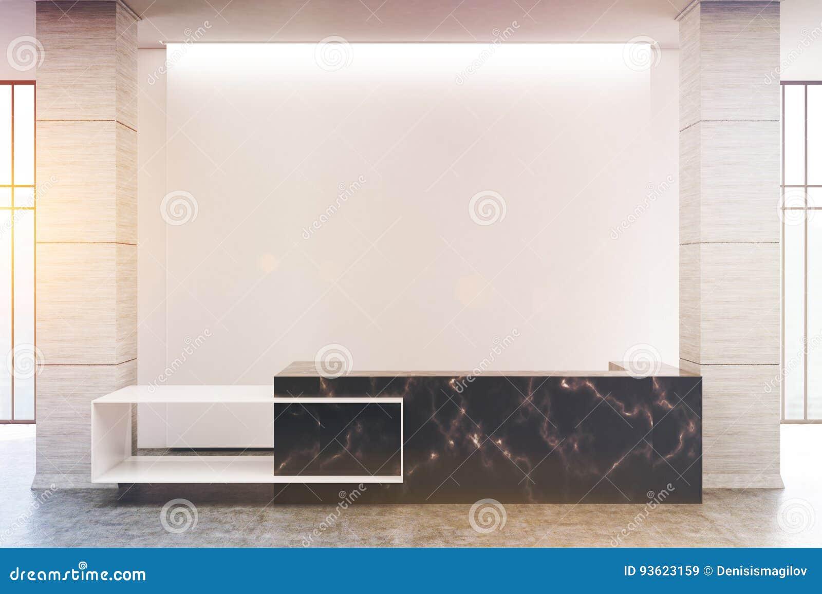 Compteur de marbre noir de réception modifié la tonalité