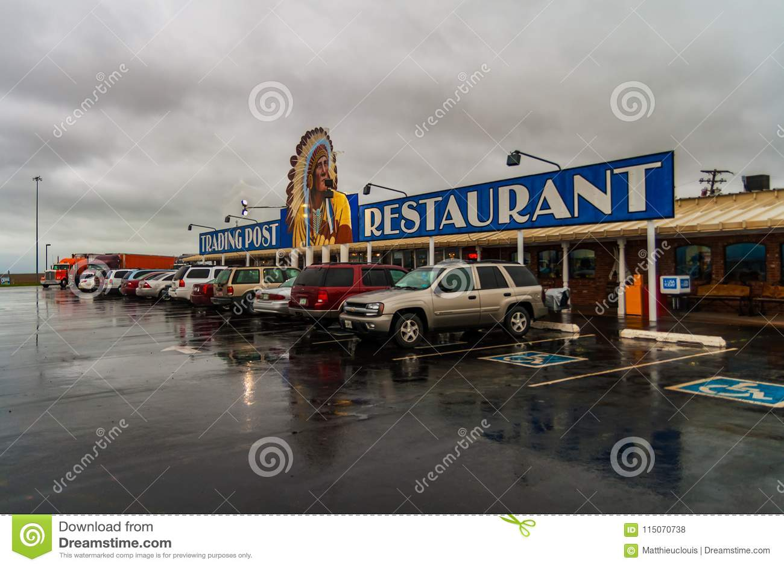 Comptoir commercial cherokee, Clinton, l Oklahoma