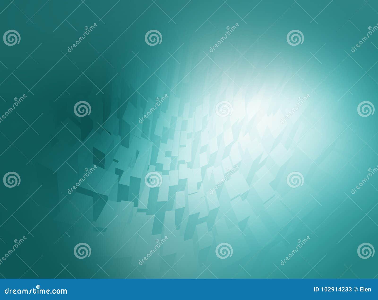 Computação gráfica azul abstrata do fundo