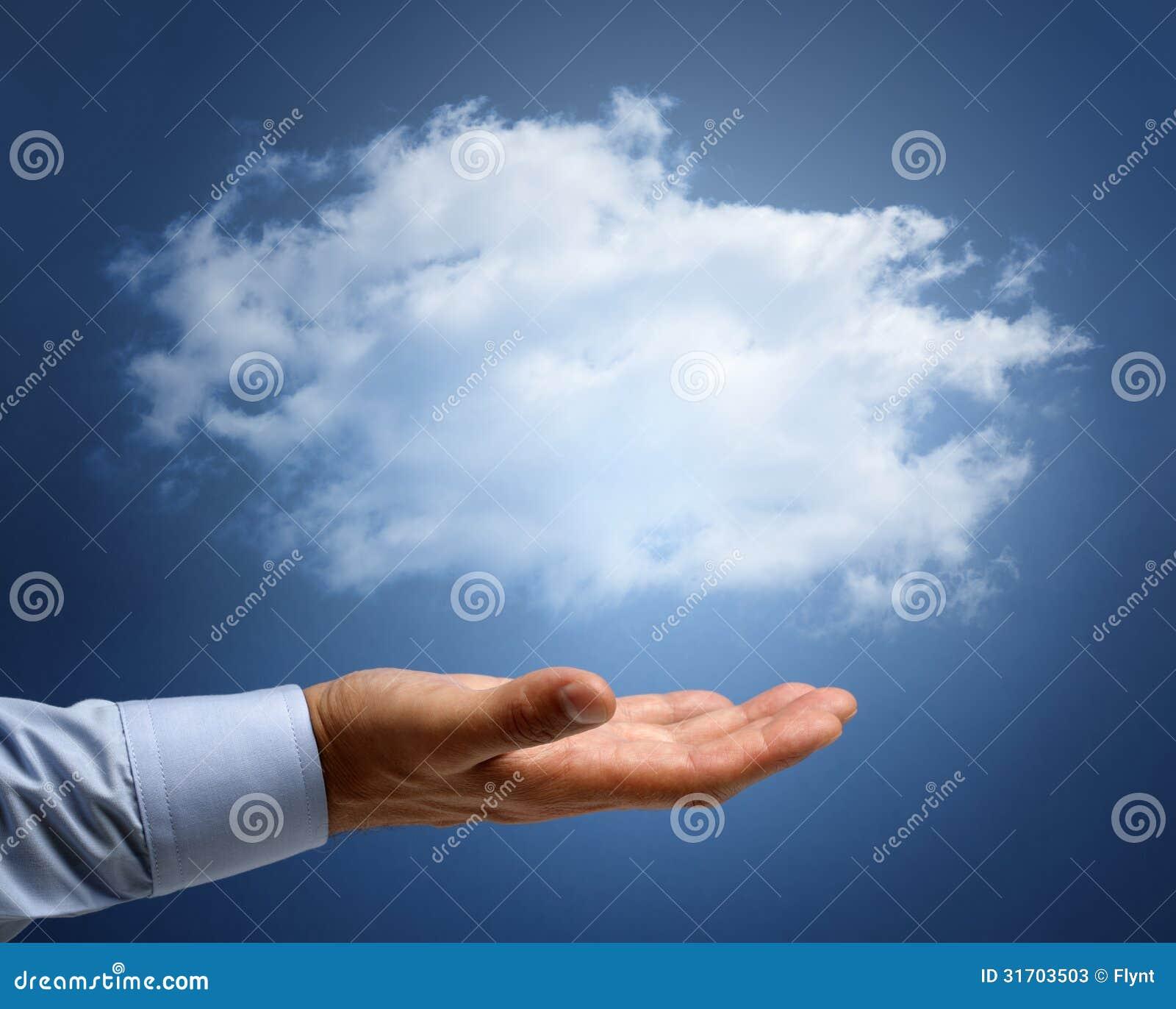 Computación de la nube o sueños y concepto de las aspiraciones