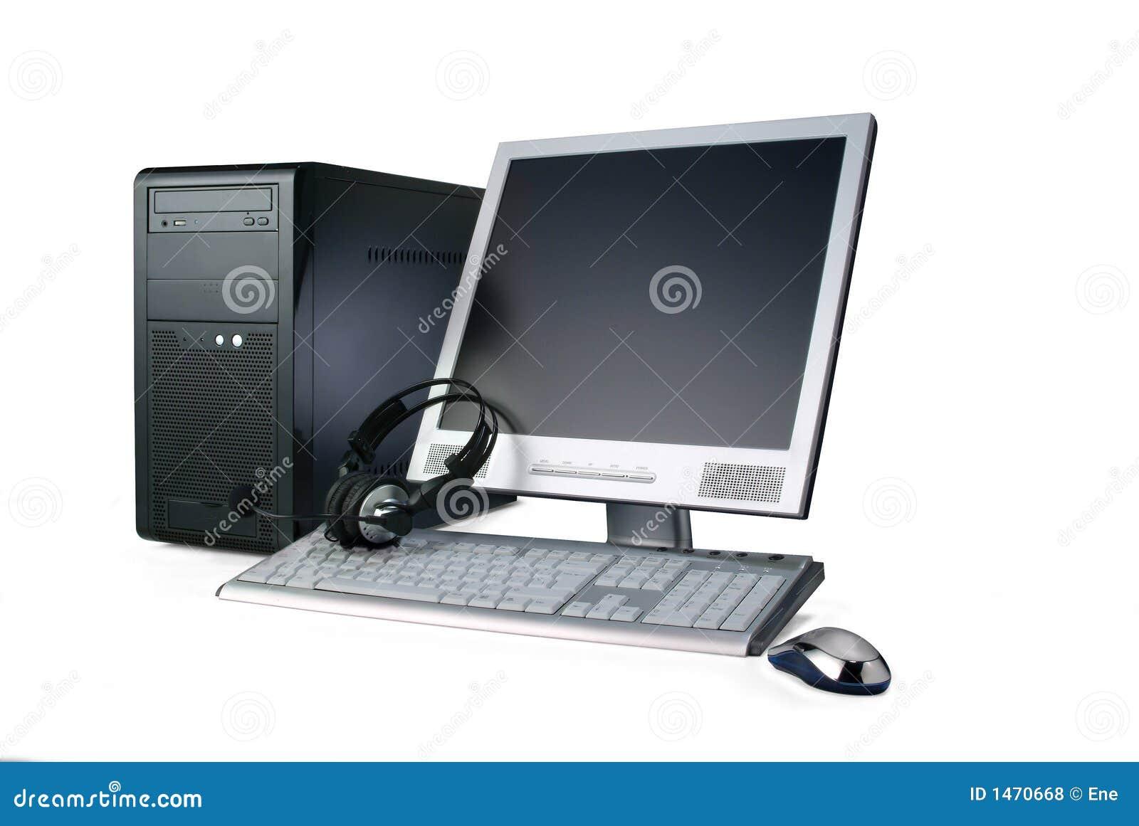 Computador isolado no branco