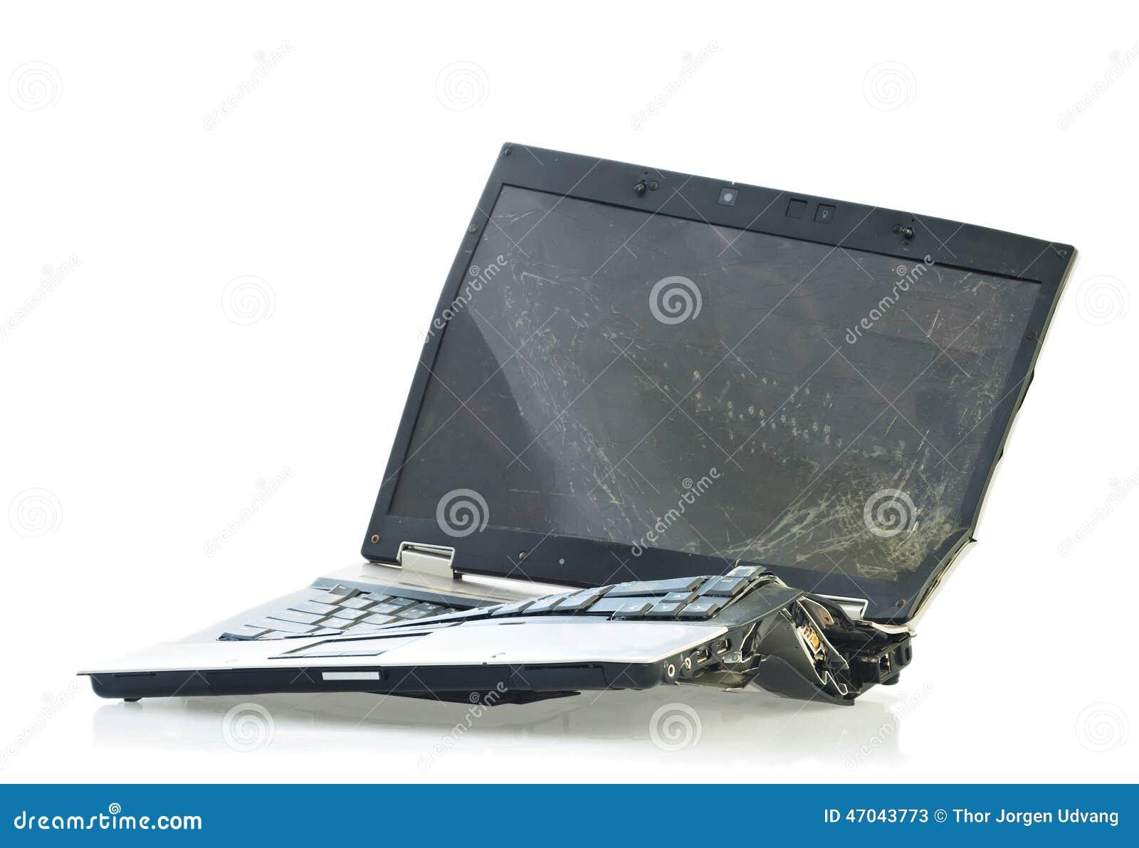 Computador portátil quebrado