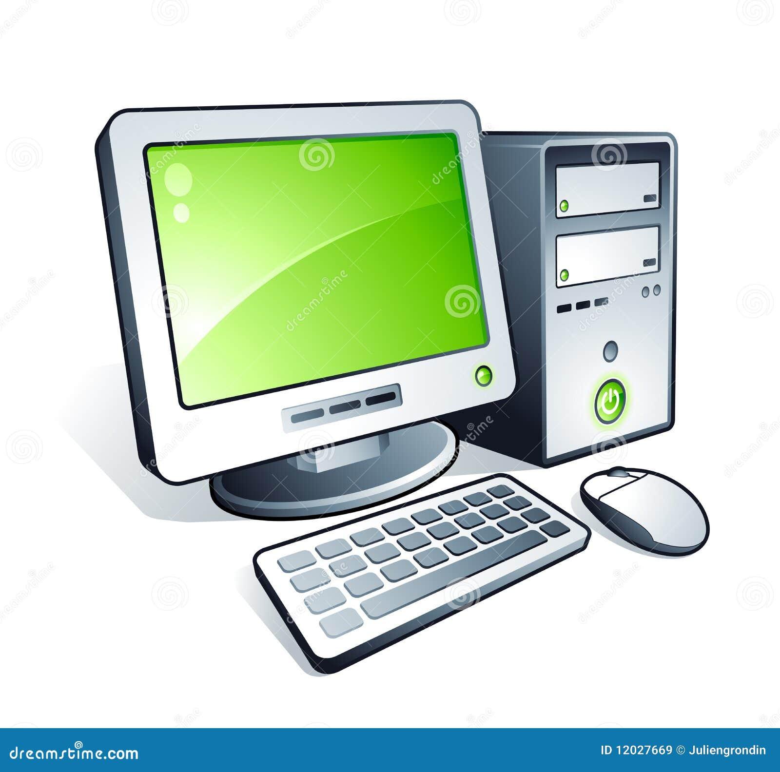 Computadora de escritorio ilustraci n del vector for Escritorio para computadora